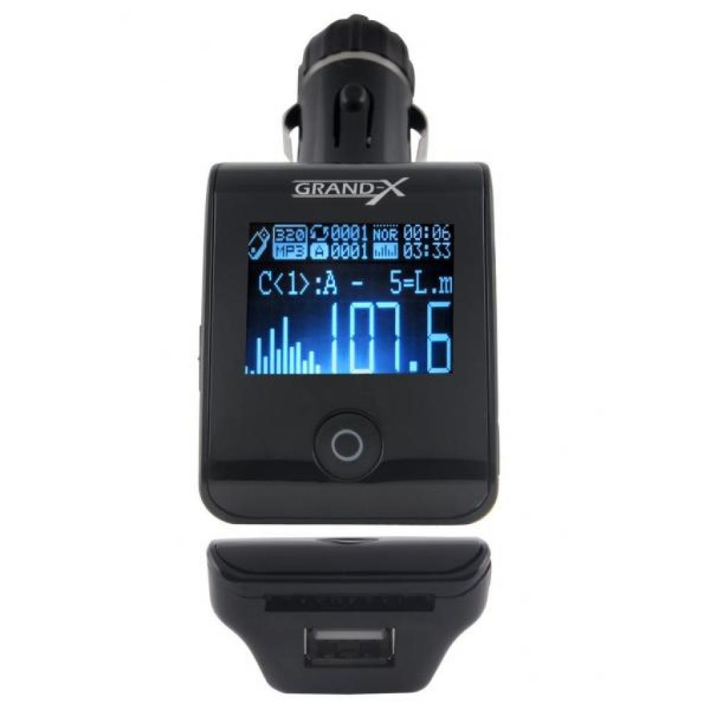 Автомобильный MP3-FM модулятор Grand-X CUFM24GRX black SD/USB (CUFM24GRX black) изображение 2