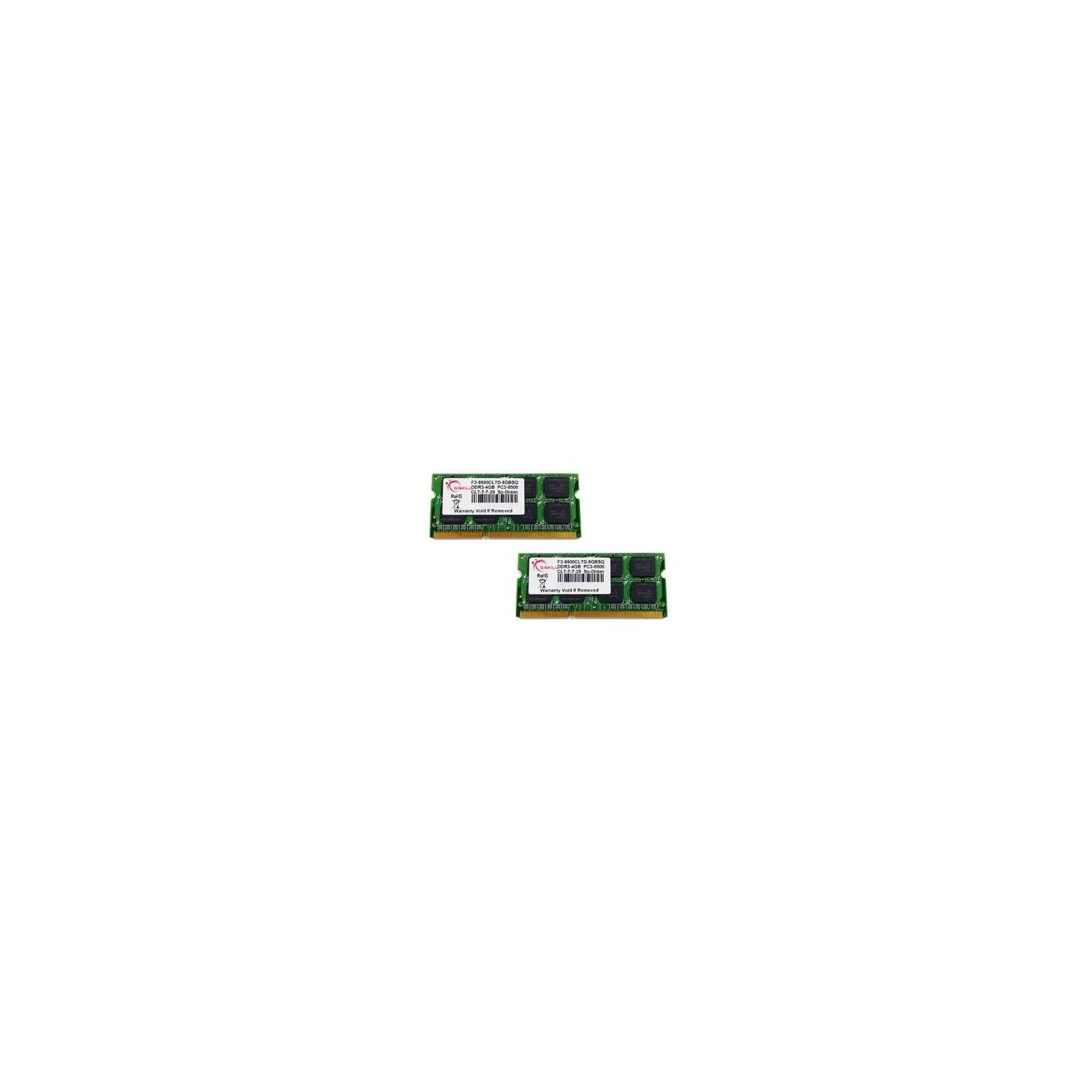 Модуль памяти для ноутбука SoDIMM DDR3 8GB (2x4GB) 1066 MHz G.Skill (FA-8500CL7D-8GBSQ)