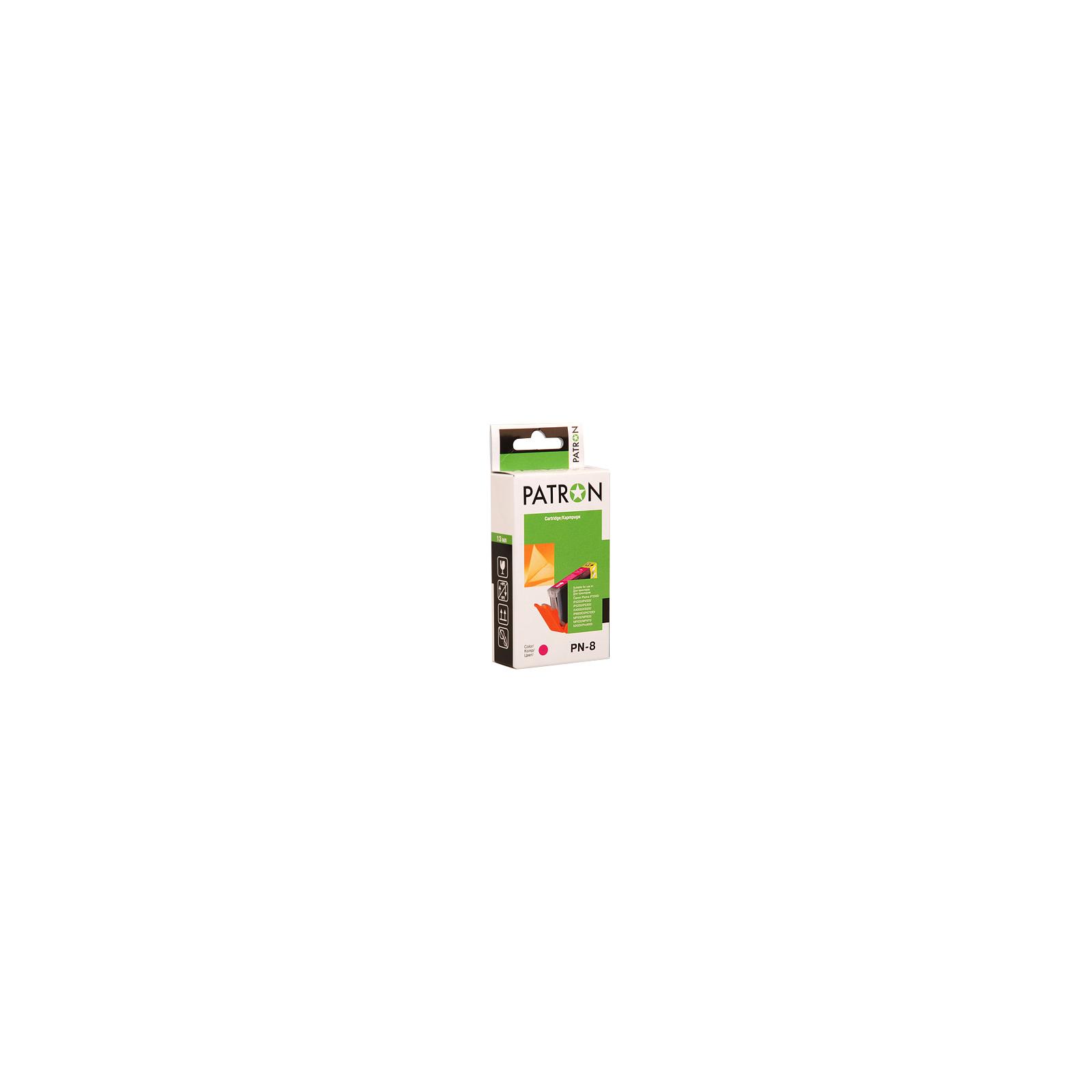 Картридж PATRON CANON CLI-8M MAGENTA (№ PN-8M NEW) (CI-CAN-CLI-8-M1-PN)