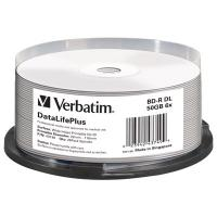Диск BD Verbatim DL 50Gb 6x Cake 25 Printable (43749)