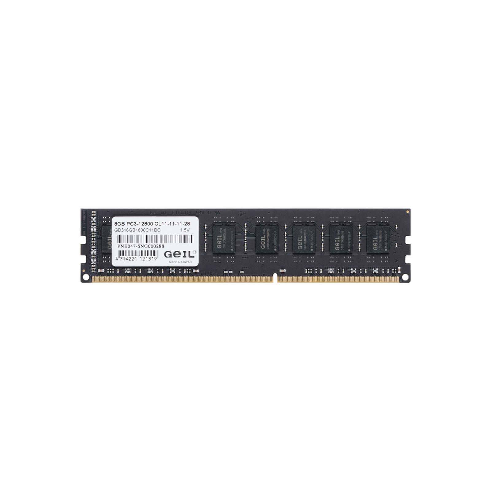 Модуль памяти для компьютера DDR3 16GB (2x8GB) 1600 MHz GEIL (GD316GB1600C11DC) изображение 2