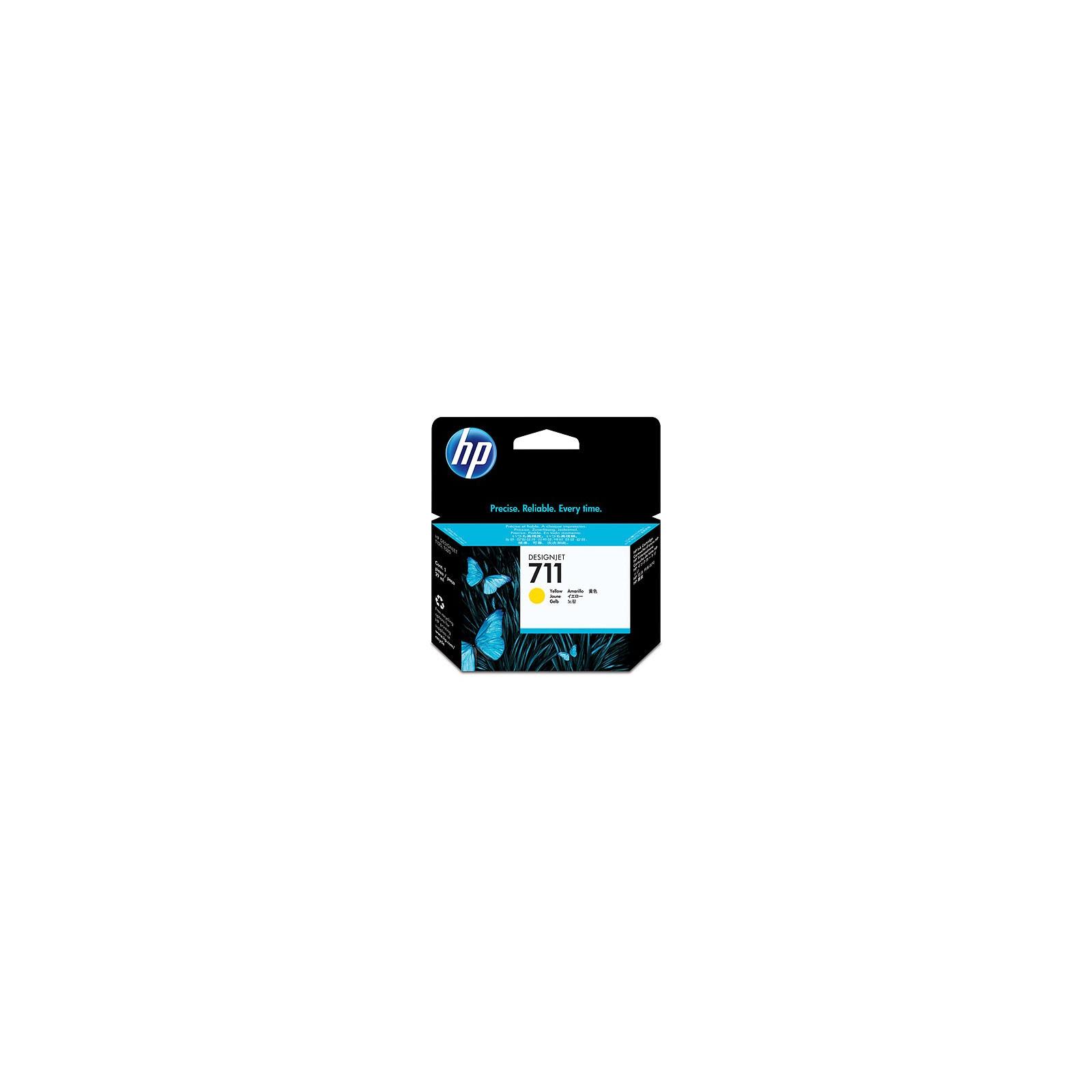 Картридж HP DJ No.711 DesignJet 120/520 Yellow (CZ132A)