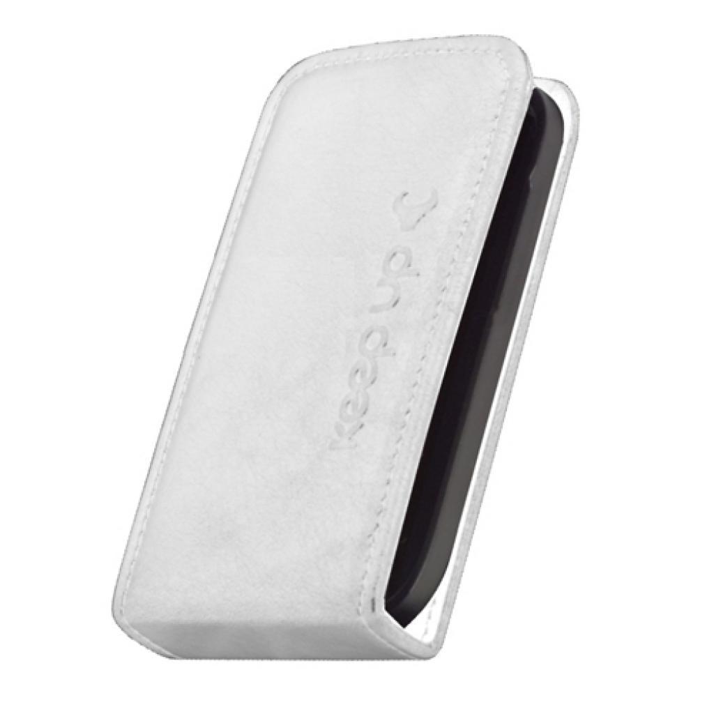 Чехол для моб. телефона KeepUp для Samsung I9192 Galaxy SIV mini Duos White/FLIP (00-00009990) изображение 2