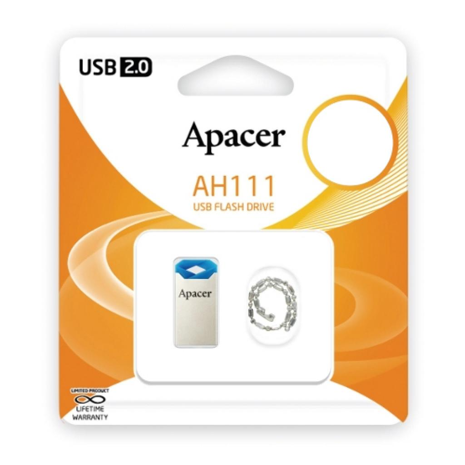 USB флеш накопитель 32GB AH111 Blue RP USB2.0 Apacer (AP32GAH111U-1) изображение 5