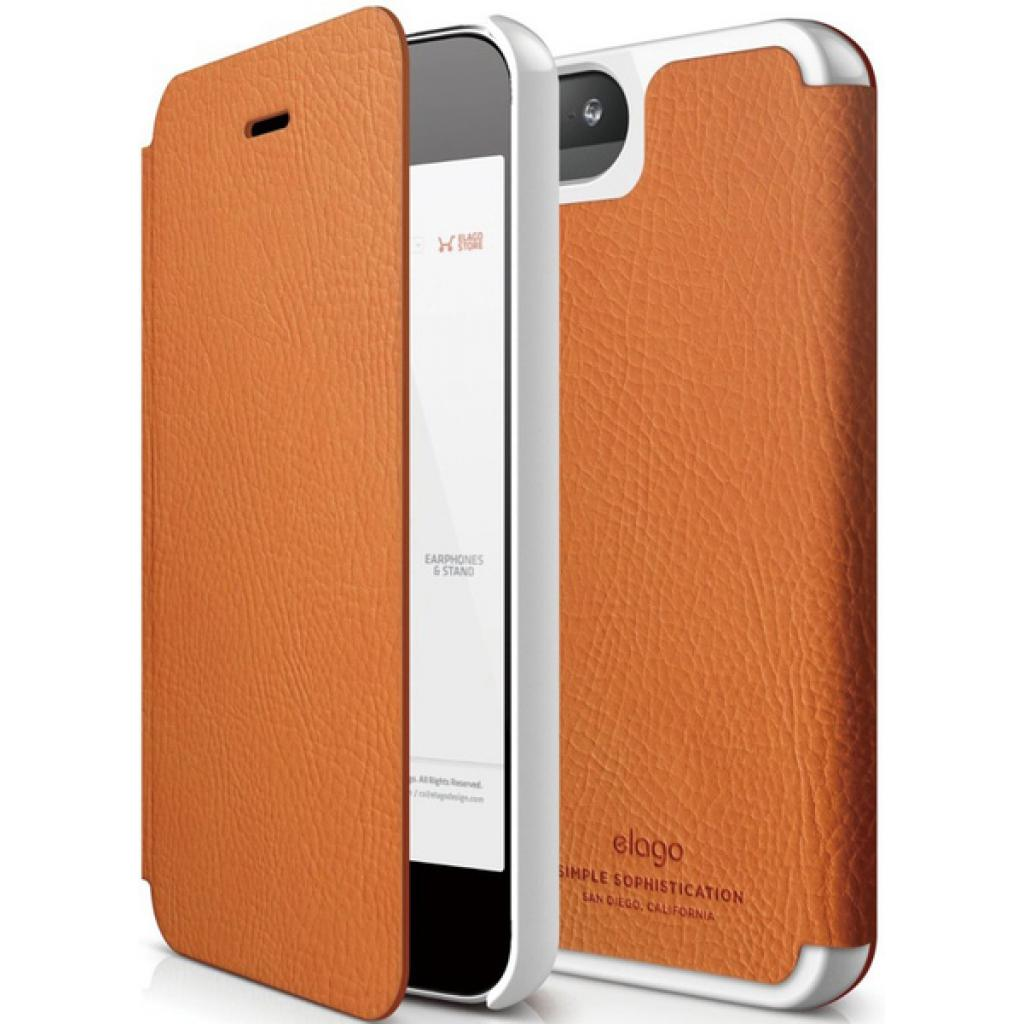 Чехол для моб. телефона ELAGO для iPhone 5 /Leather Flip/Orange (ELS5LE-OR) изображение 3