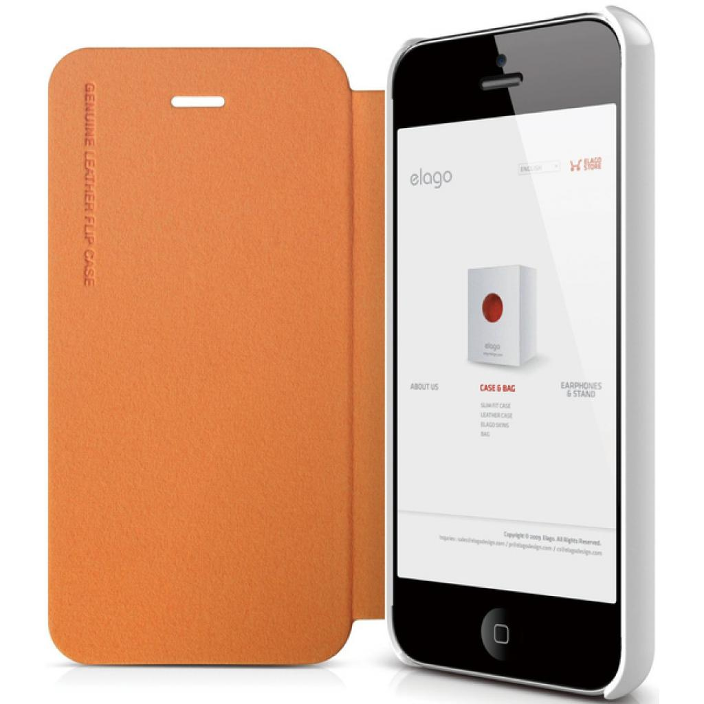 Чехол для моб. телефона ELAGO для iPhone 5 /Leather Flip/Orange (ELS5LE-OR) изображение 4