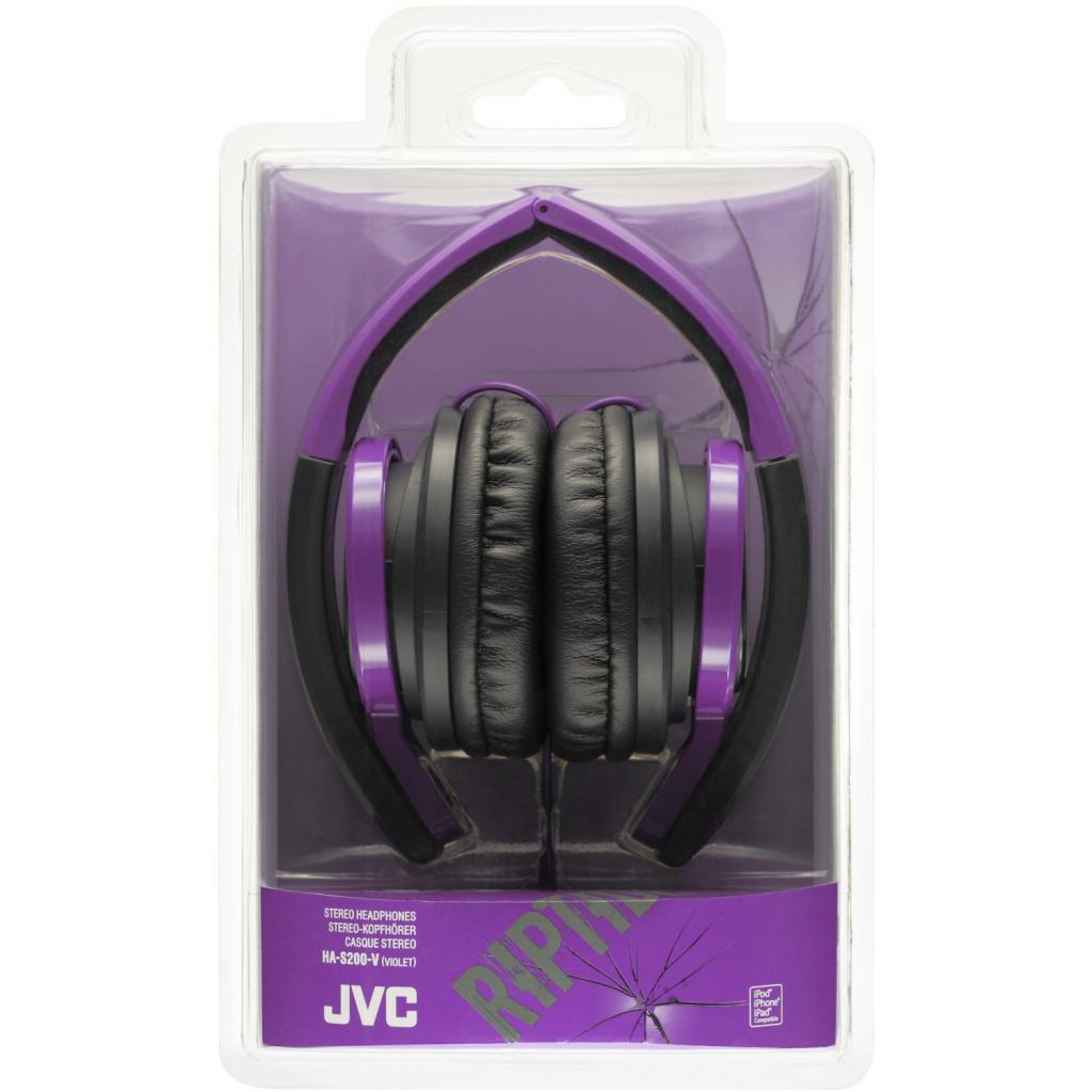 Наушники JVC HA-S200 Violet (HA-S200-V-EF) изображение 3