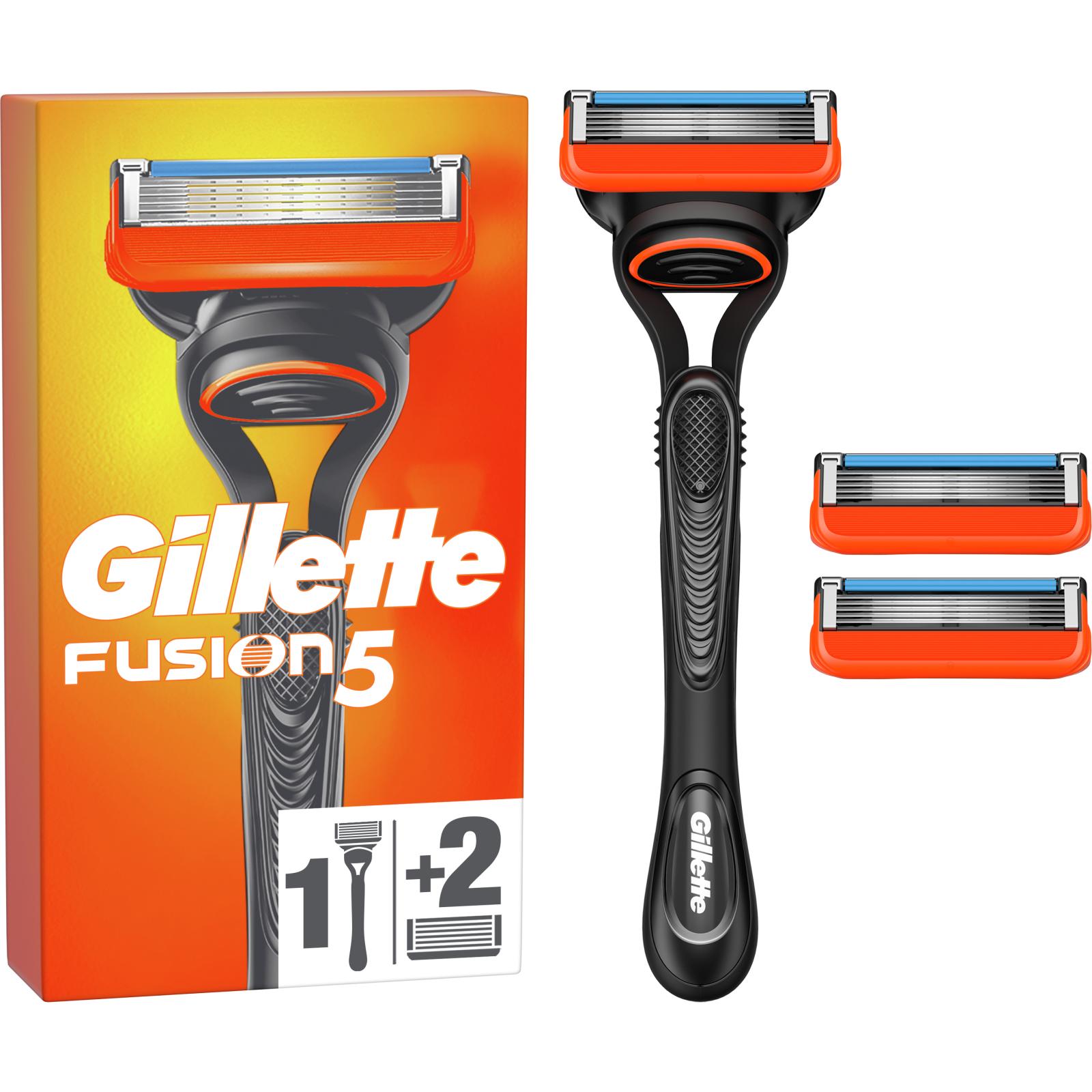 Бритва Gillette Fusion с 2 сменными картриджами (7702018874125)