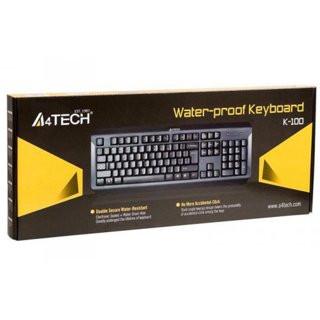 Клавиатура A4-tech K-100 USB (Black) изображение 4