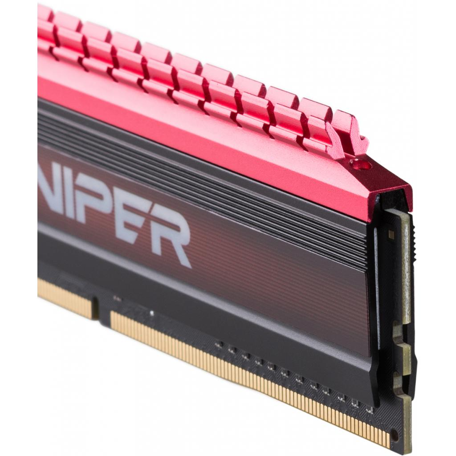 Модуль памяти для компьютера DDR4 16GB (2x8GB) 2666 MHz PE-V4 BLK/RED DUALCH Patriot (PV416G266C5K) изображение 3