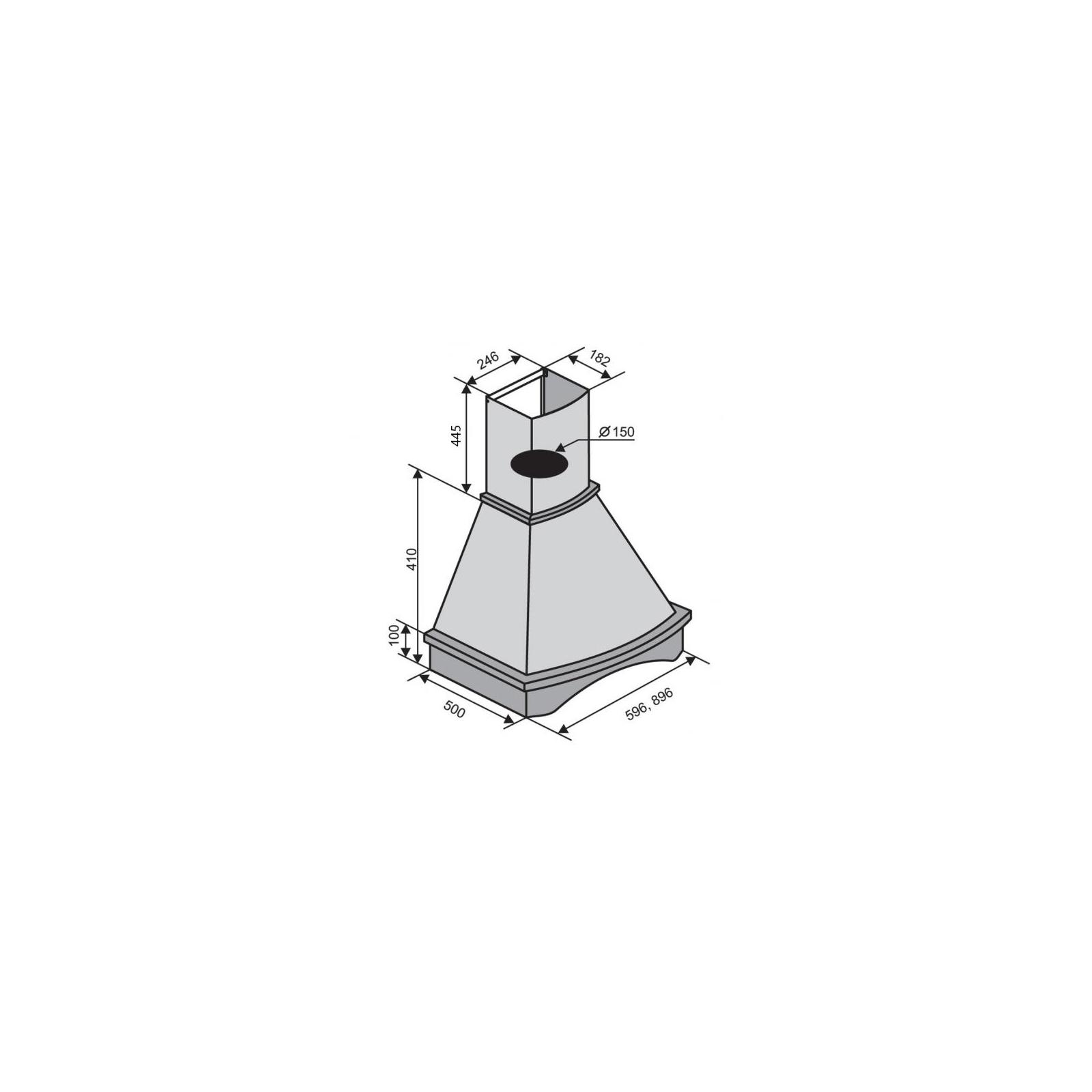 Вытяжка кухонная VENTOLUX VICENZA 90 RW WH (750) IT изображение 2