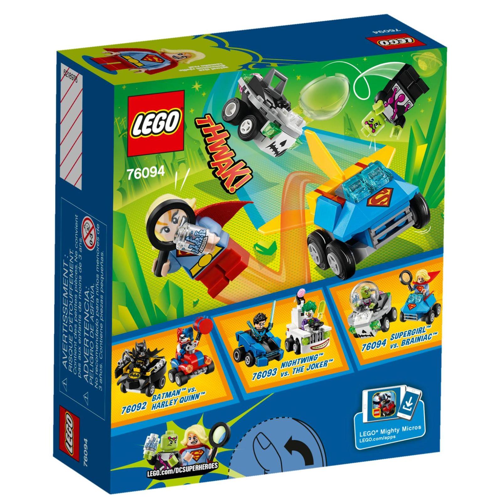 Конструктор LEGO Super Heroes Mighty Micros: Супердевушка против Брейниака (76094) изображение 7