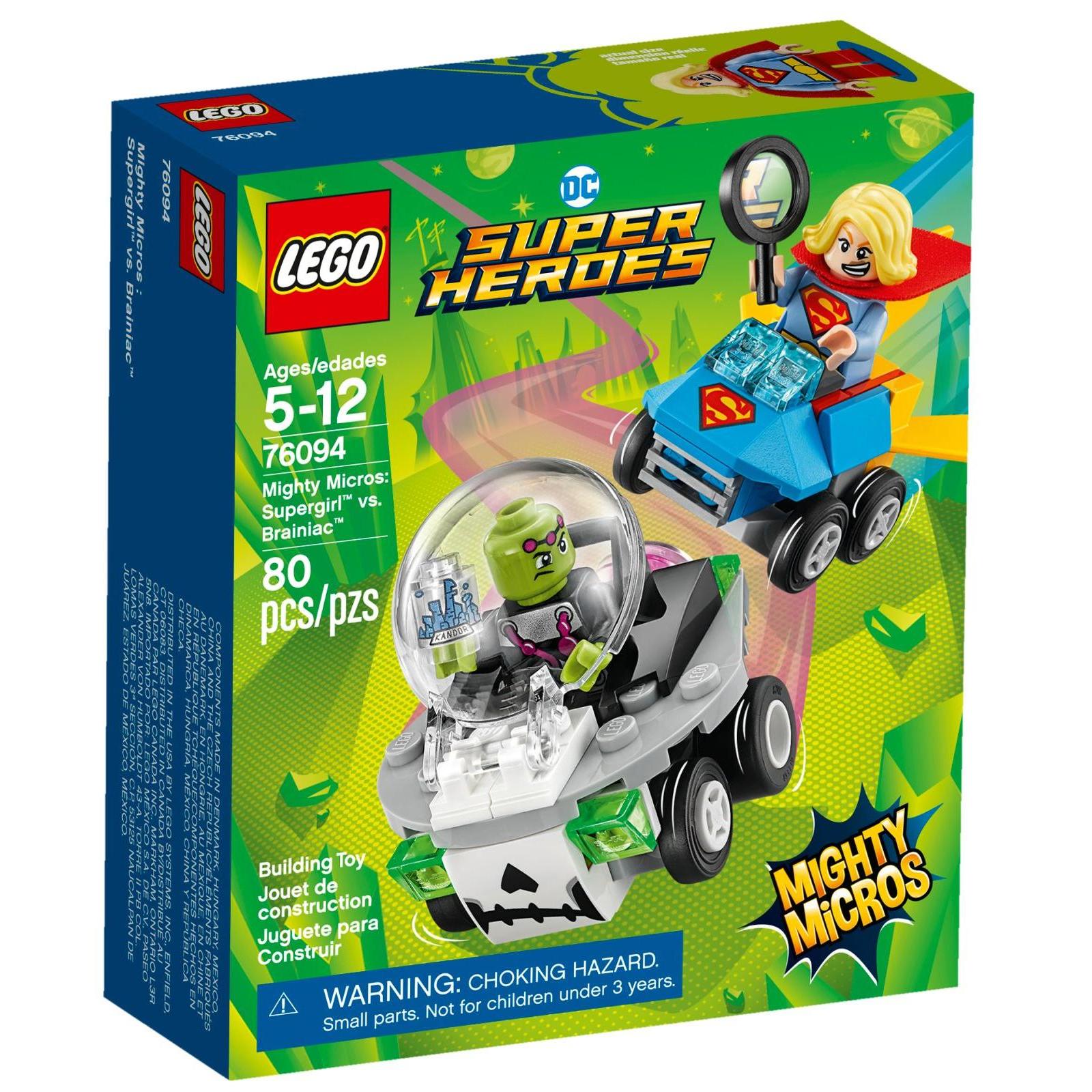 Конструктор LEGO Super Heroes Mighty Micros: Супердевушка против Брейниака (76094)