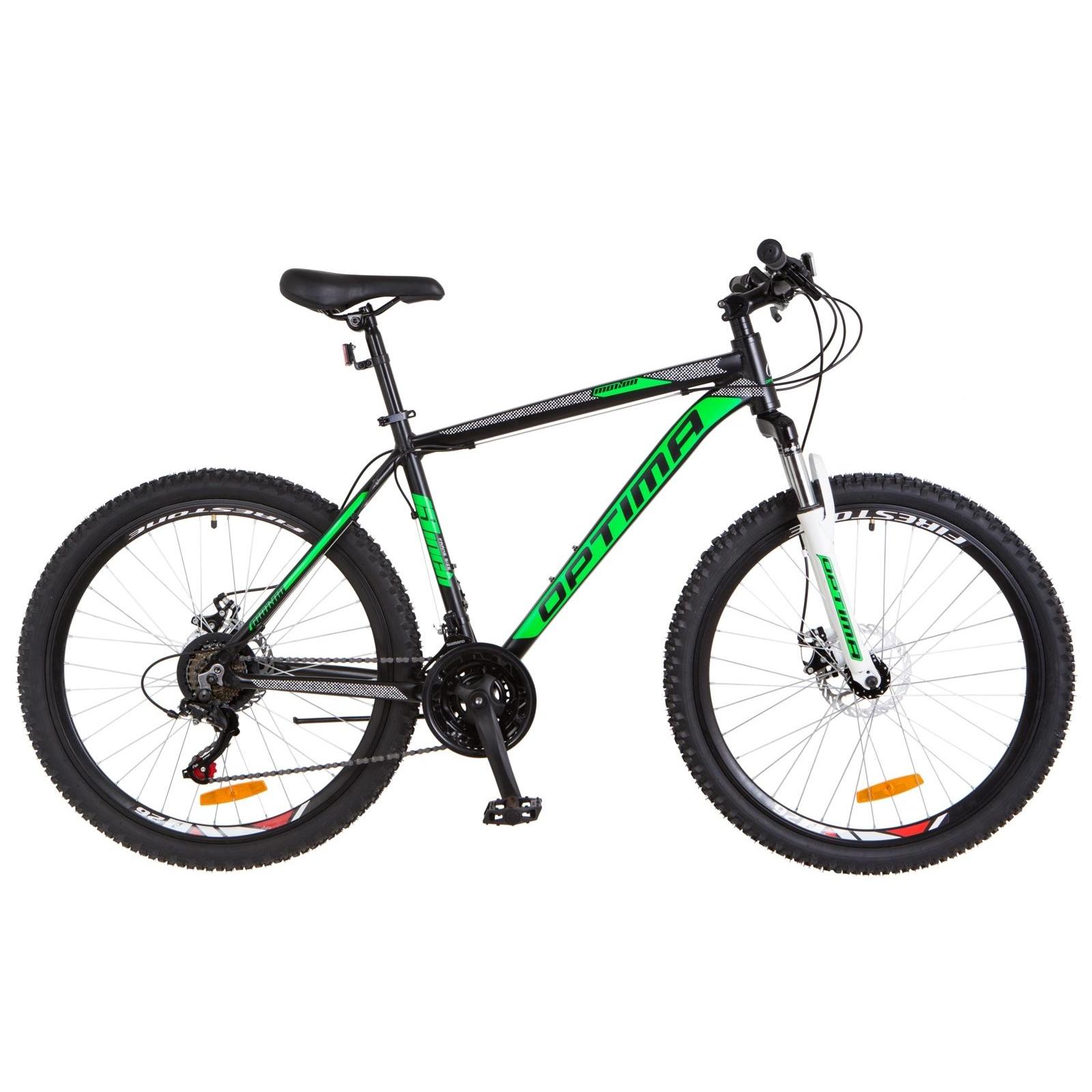 """Велосипед Optimabikes 26"""" MOTION 2018 AM 14G DD рама-19"""" Al черно-салатовый (OPS-OP-26-118)"""