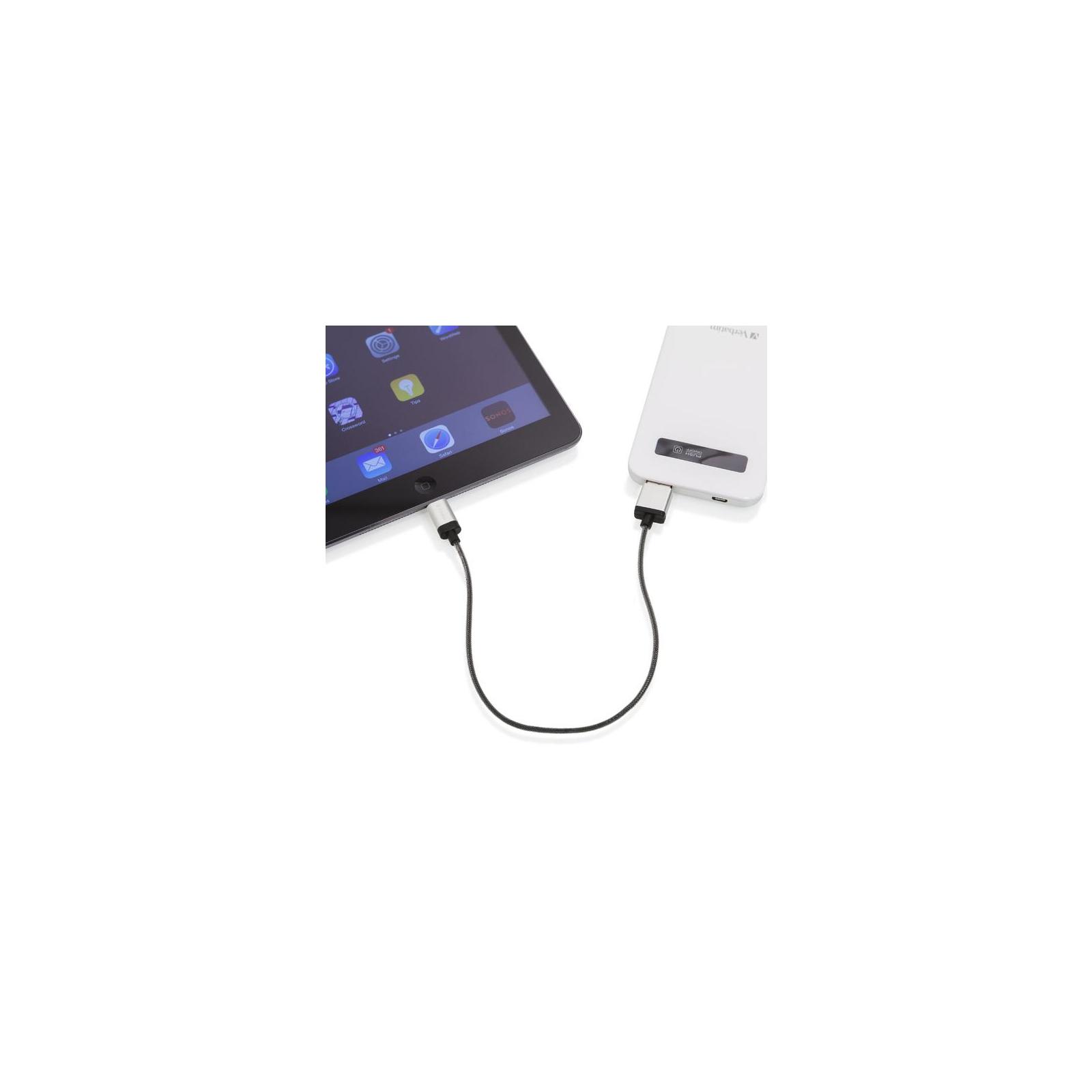 Дата кабель USB 2.0 AM to Lightning 0.3m silver Verbatim (48854) изображение 3