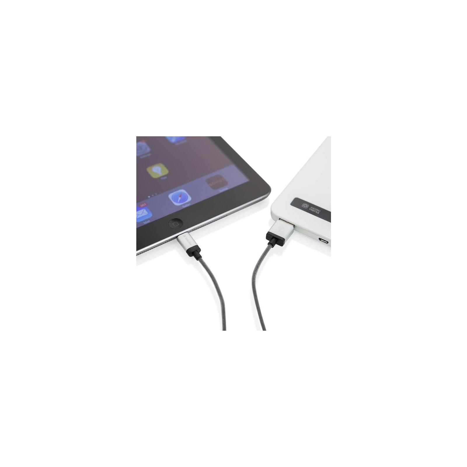 Дата кабель USB 2.0 AM to Lightning 0.3m silver Verbatim (48854) изображение 4
