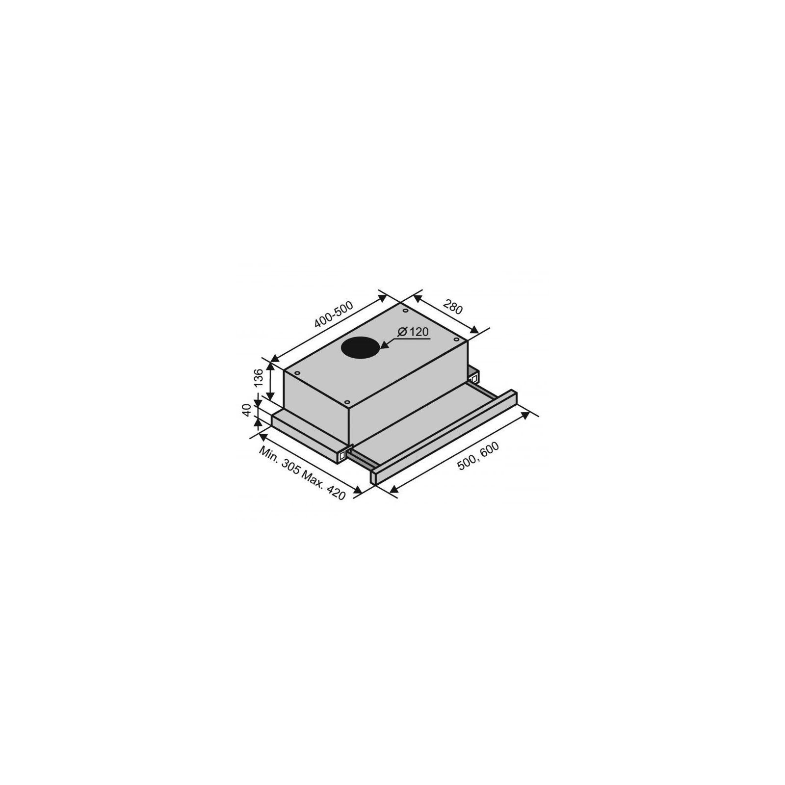 Вытяжка кухонная Ventolux GARDA 50 WH (700) SLIM изображение 6