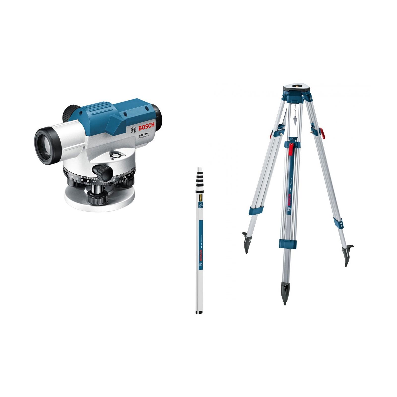 Оптический нивелир Bosch GOL 26 D + BT160 + GR500 (0.601.068.002) изображение 2