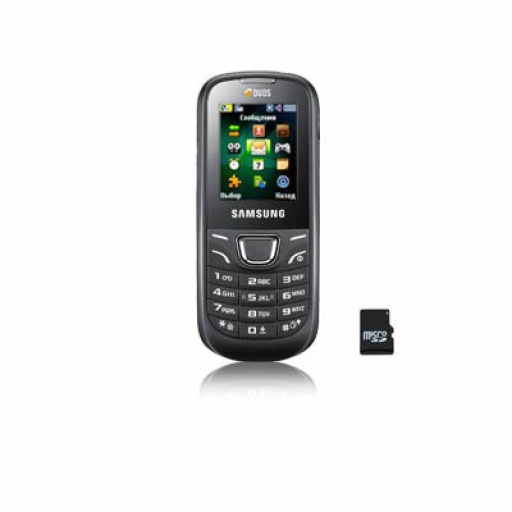 Мобильный телефон GT-E1225 Black Samsung (GT-E1225ZKTSEK)
