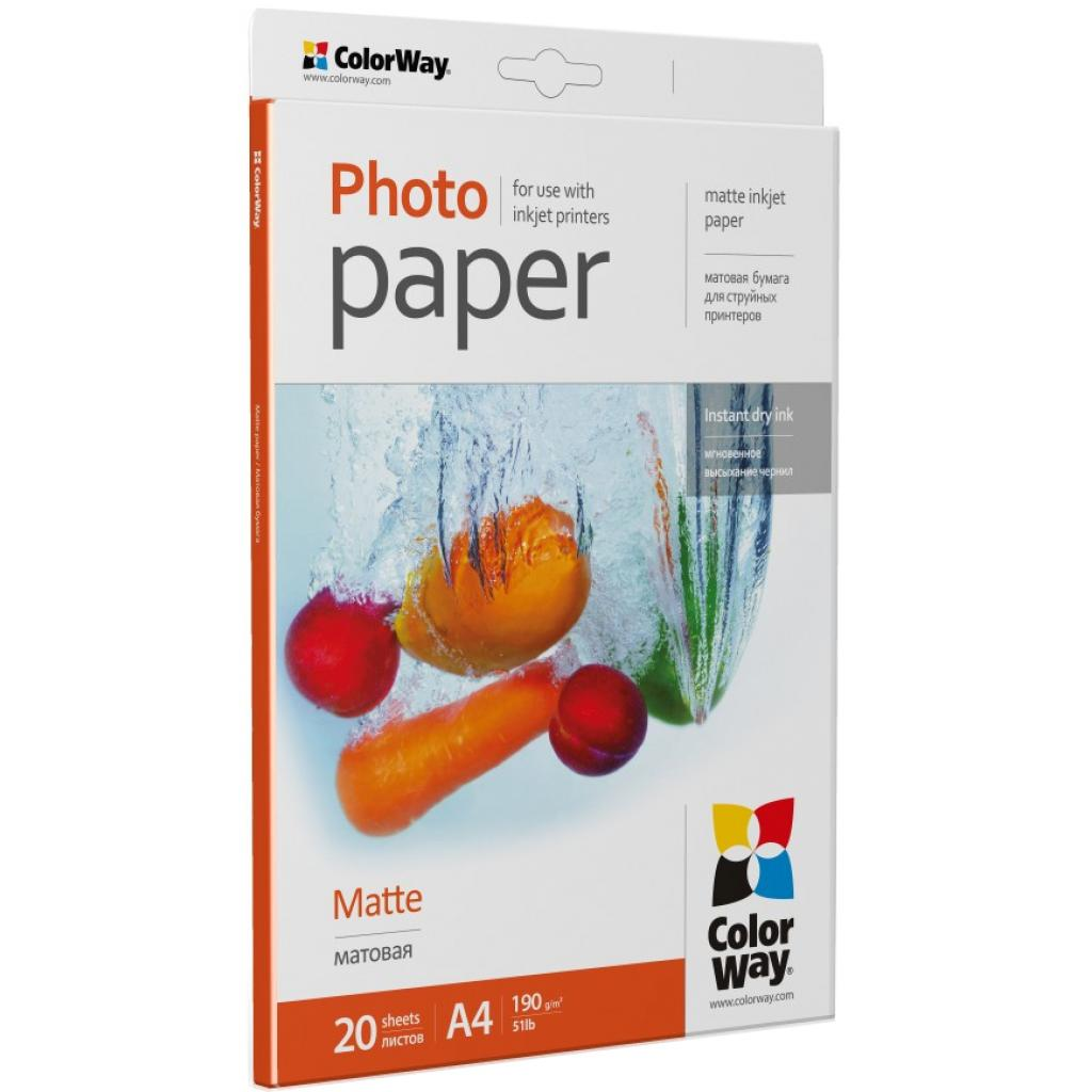 Бумага Colorway A4 190г matte 20ст. (PM190020A4) изображение 2