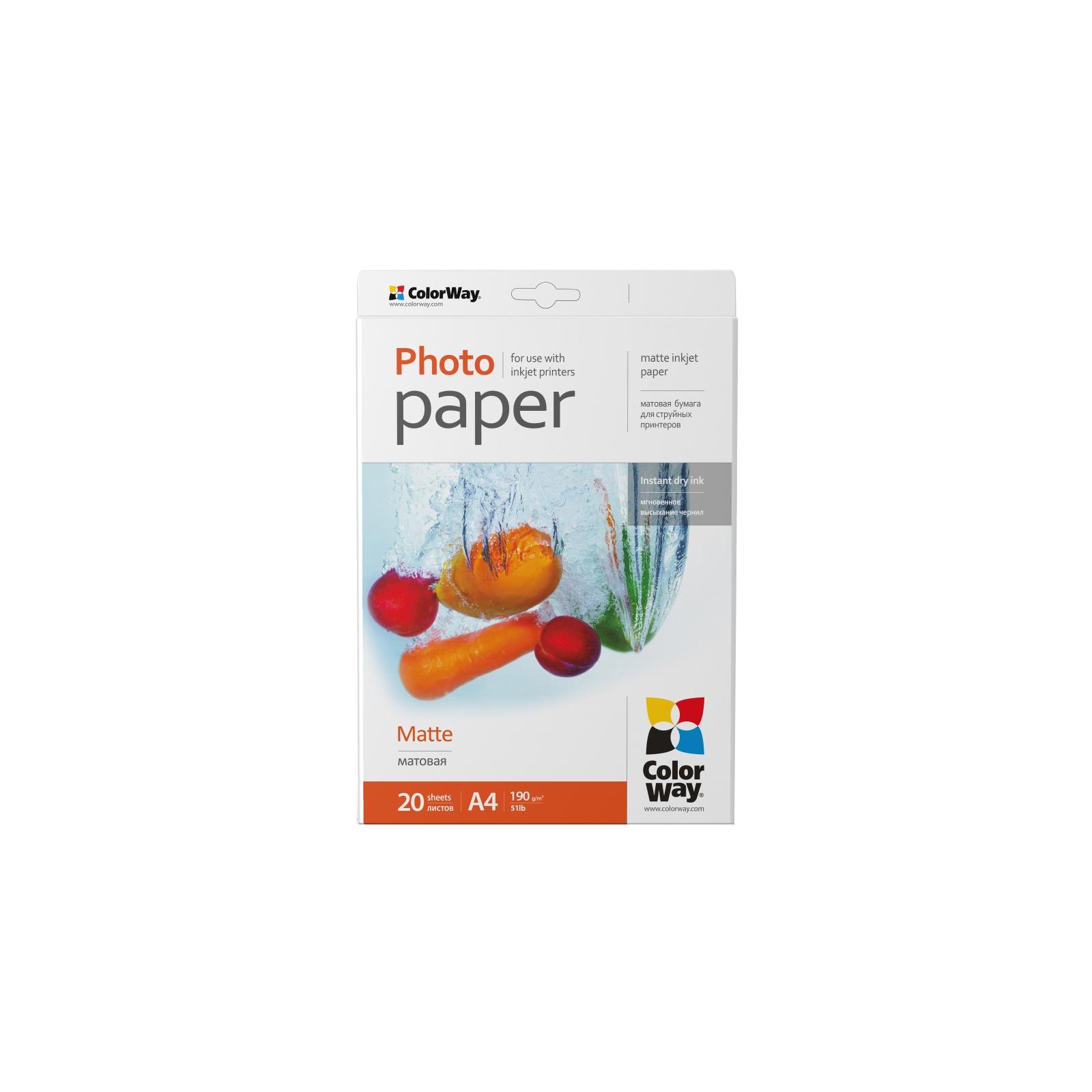 Бумага ColorWay A4 (ПМ190-20) (PM190020A4)