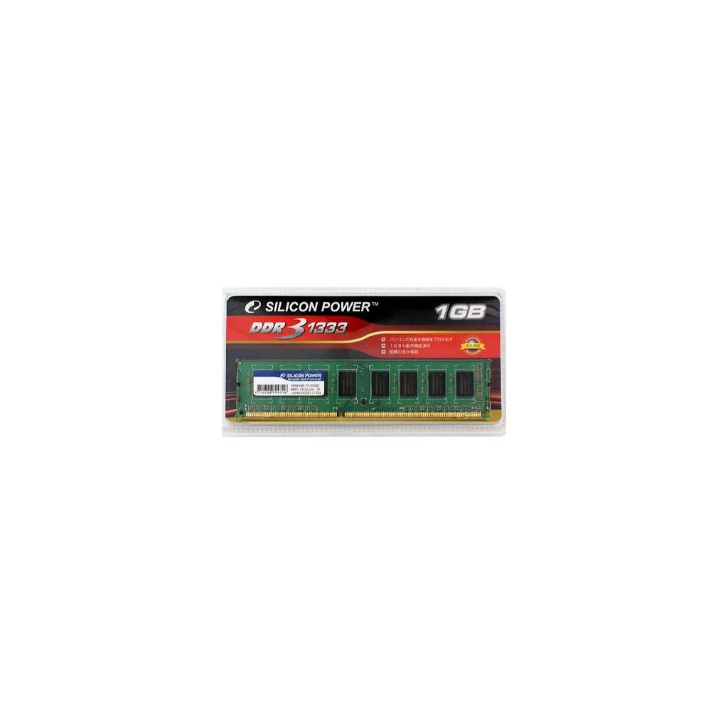 Модуль памяти для компьютера DDR3 1GB 1333 MHz Silicon Power (SP001GBLTU133S02)
