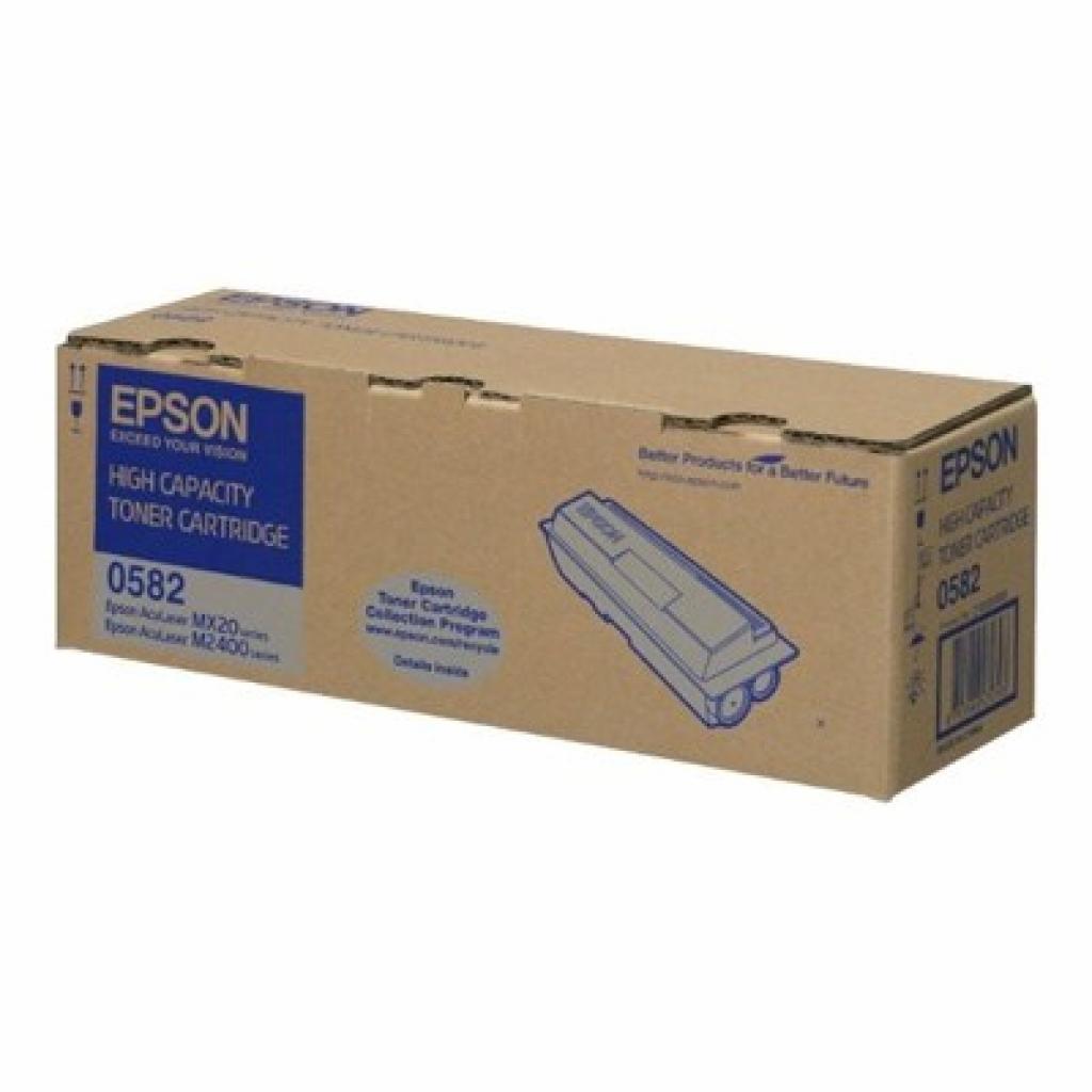 Картридж EPSON ALMX20/ ALM2400 HC black, 8000 стр (C13S050582)