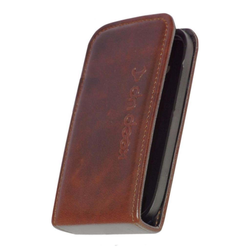 Чехол для моб. телефона KeepUp для LG Optimus L3 (E435) Brown/FLIP (00-00007640) изображение 2