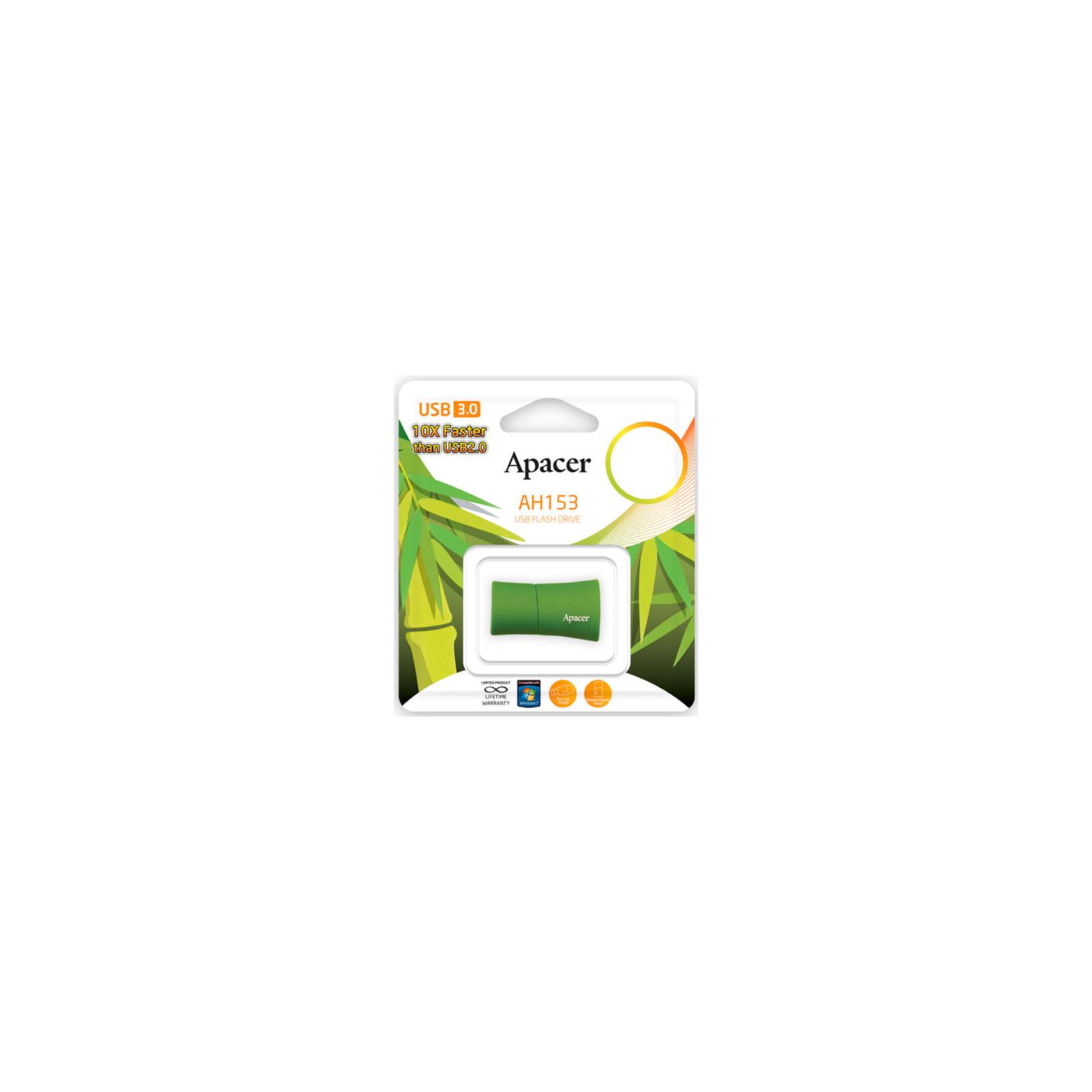 USB флеш накопитель 16GB AH153 Green RP USB3.0 Apacer (AP16GAH153G-1) изображение 5