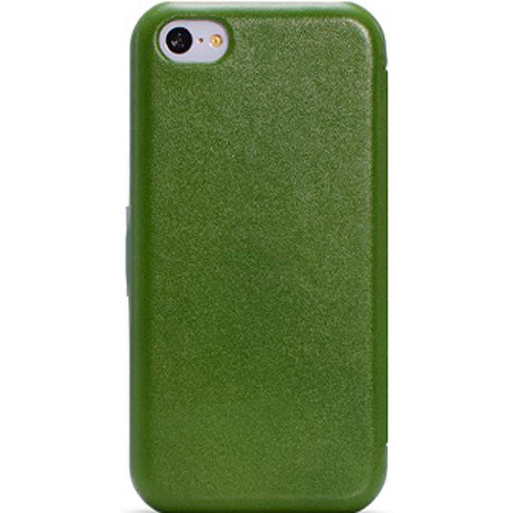 Чехол для моб. телефона i-Carer iPhone 5C luxury series side open green (RIP521GR) изображение 2