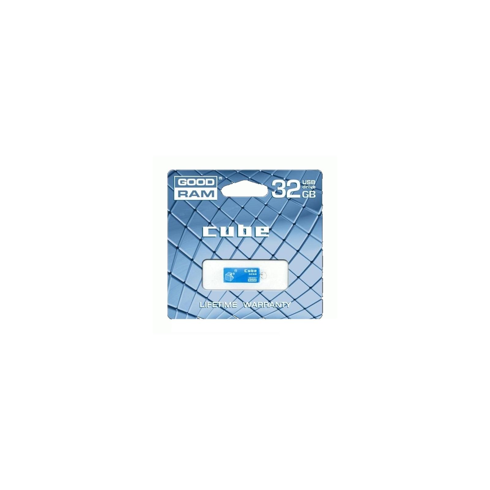 USB флеш накопитель Goodram 32GB Cube Silver USB 2.0 (PD32GH2GRCUSR9) изображение 4
