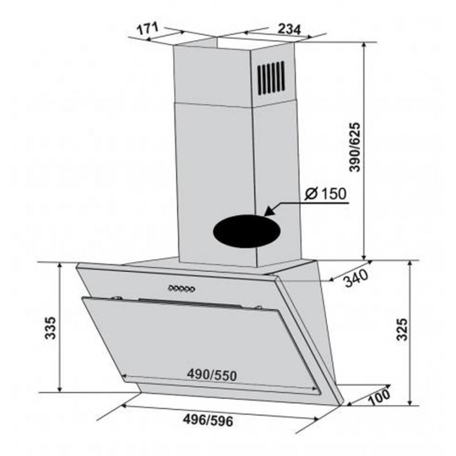 Вытяжка кухонная VENTOLUX ASTRO 60 BK (750) (IT) изображение 2