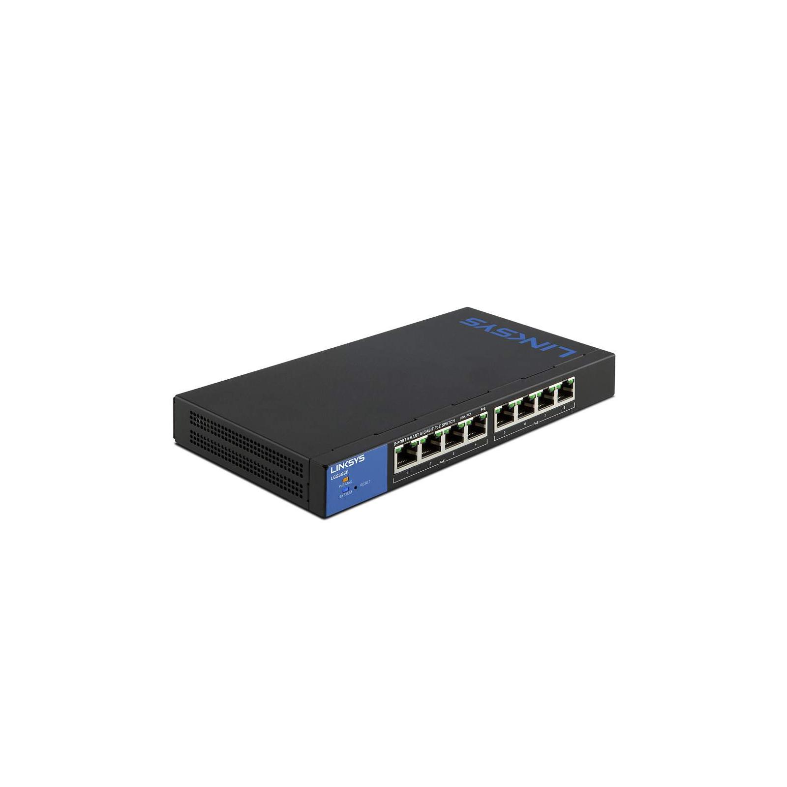 Коммутатор сетевой LinkSys LGS308P изображение 3