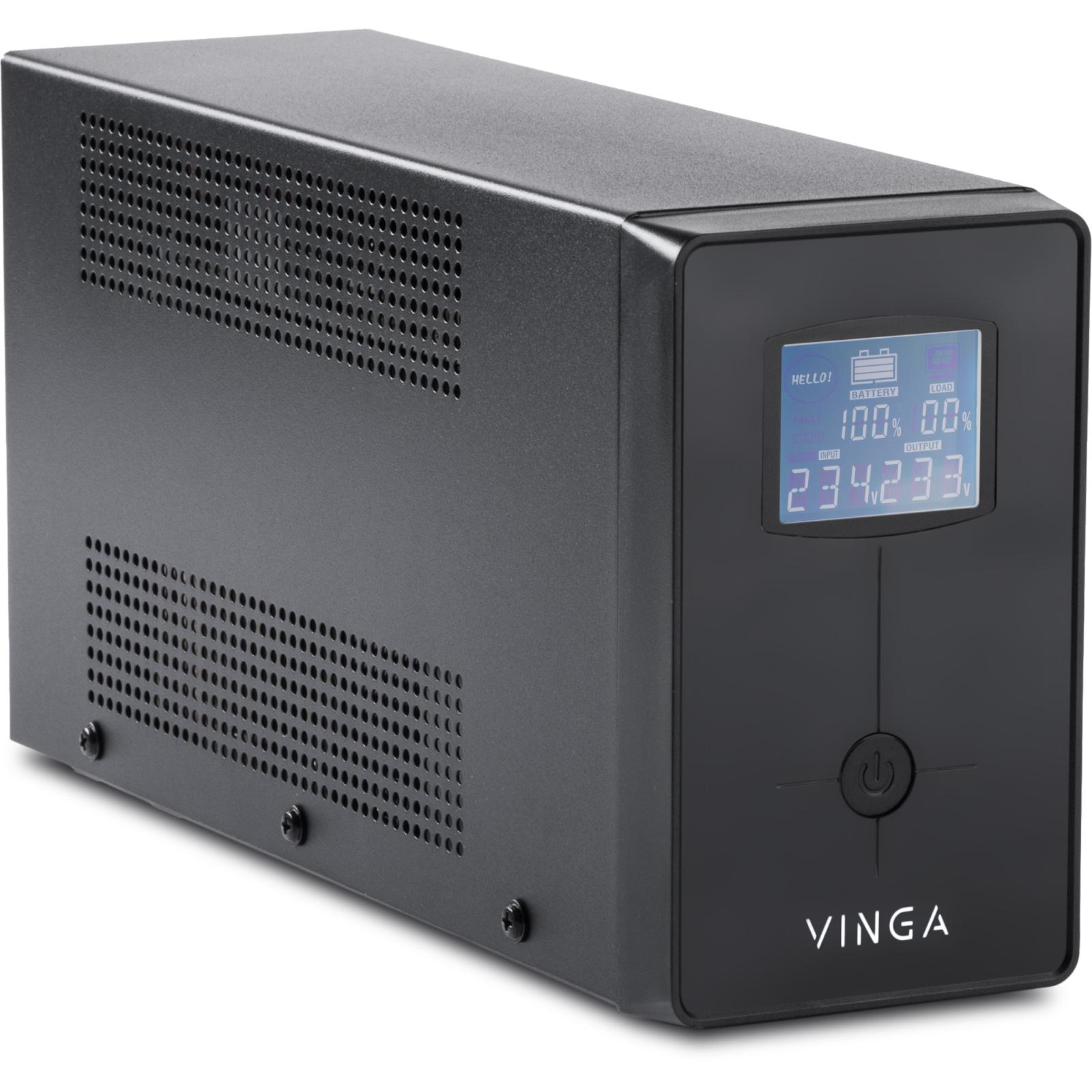 Источник бесперебойного питания Vinga LCD 2000VA metall case (VPC-2000M) изображение 2