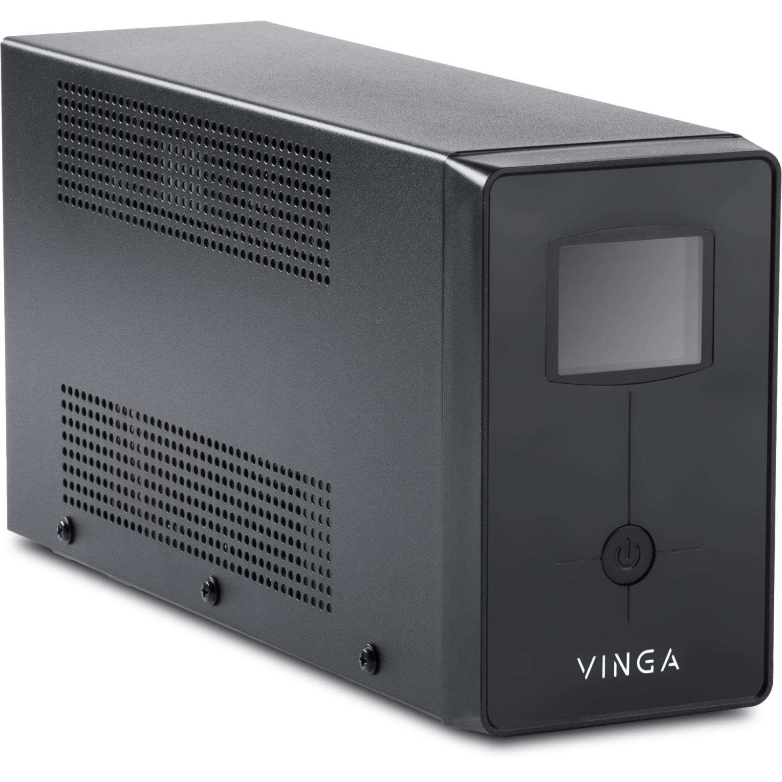 Источник бесперебойного питания Vinga LCD 2000VA metall case (VPC-2000M) изображение 7