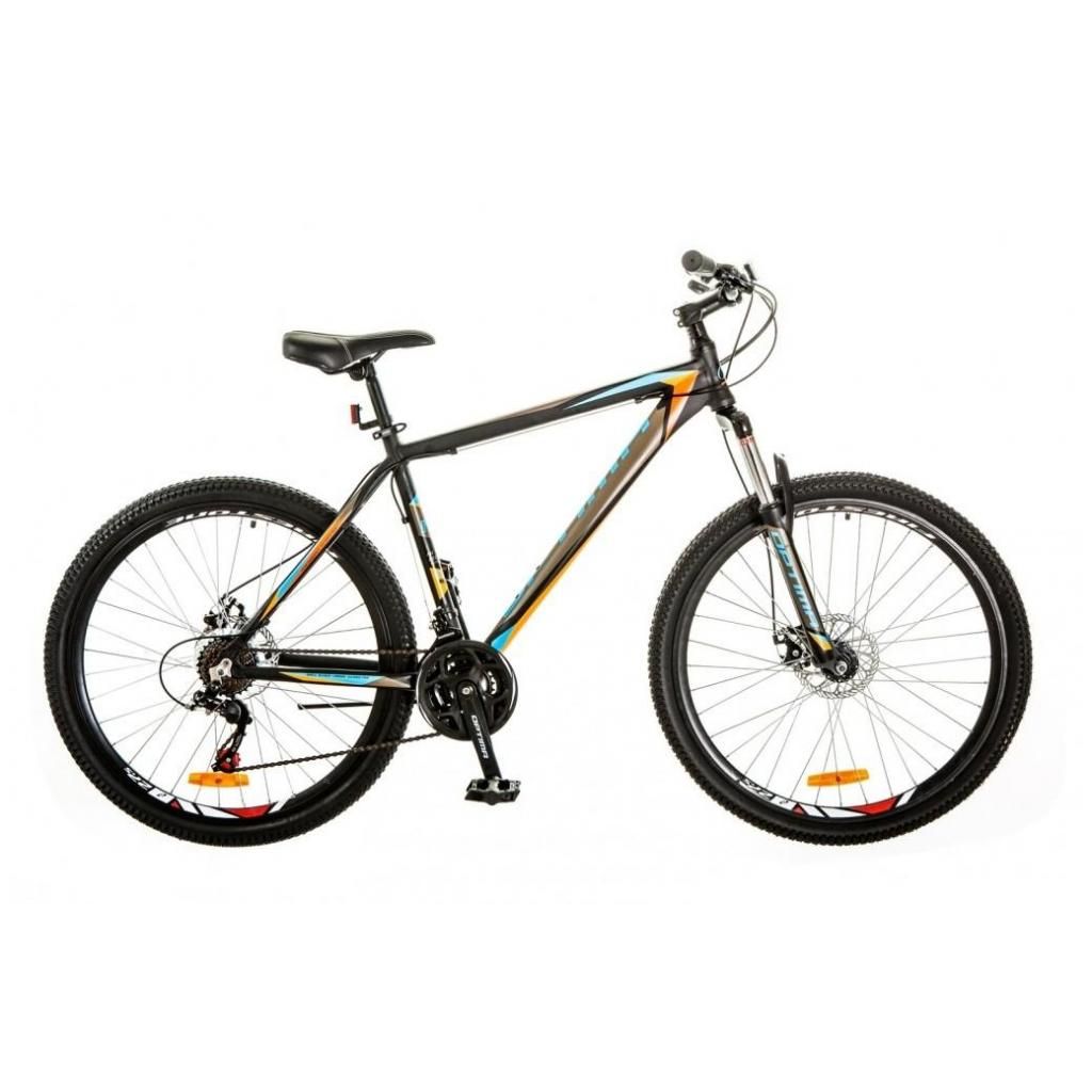 "Велосипед Optimabikes 27.5"" GRAVITY 2018 AM 14G DD рама-19"" Al серый с оранжевым (OPS-OP-27.5-023)"