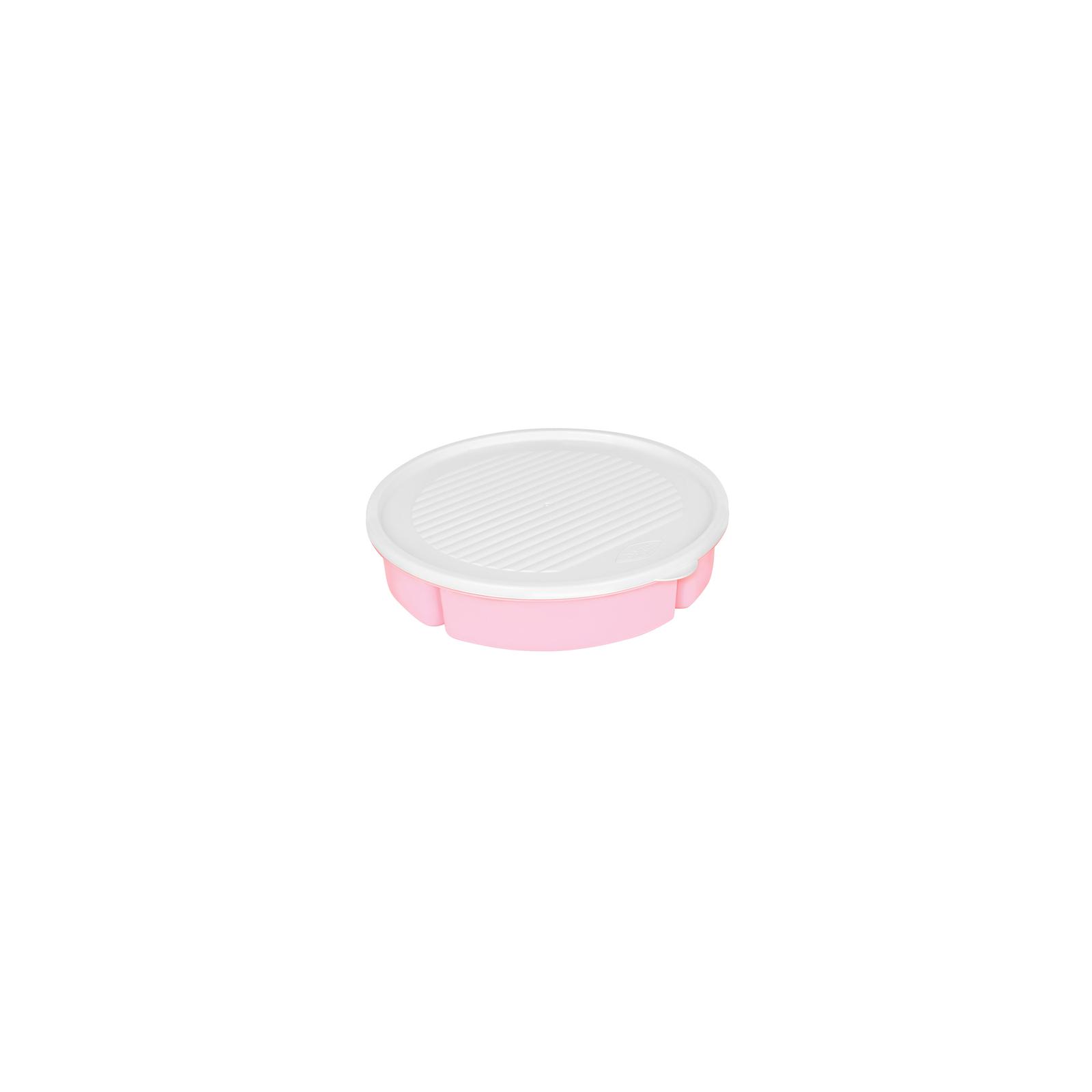 Пищевой контейнер Bager 5 отделений по 400 мл White/Pink (BG-394 P)
