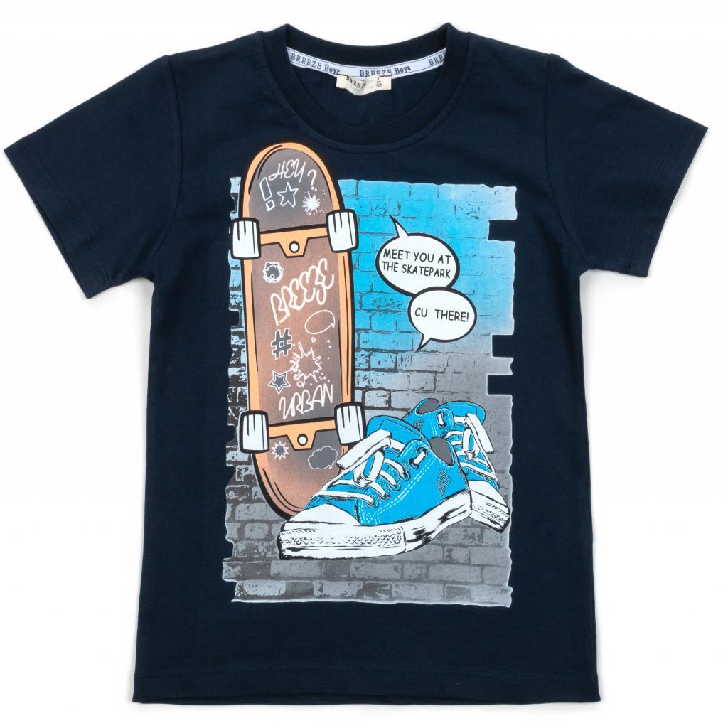Футболка детская Breeze со скейтом (12363-140B-blue)