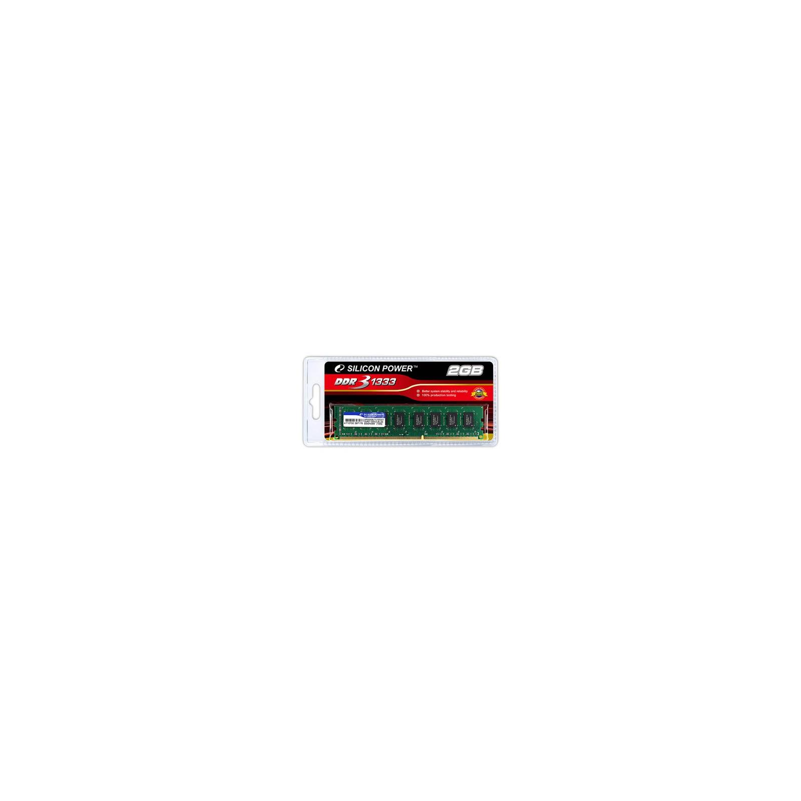 Модуль памяти для компьютера DDR3 2GB 1333 MHz Silicon Power (SP002GBLTU133V02 / SP002GBLTU133S02)