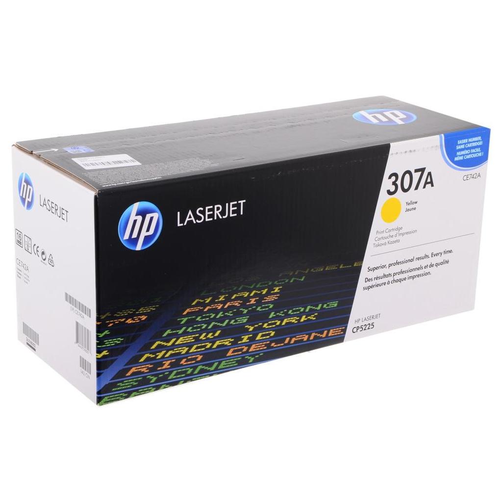 Картридж HP CLJ  307A Yellow (CE742A) изображение 2