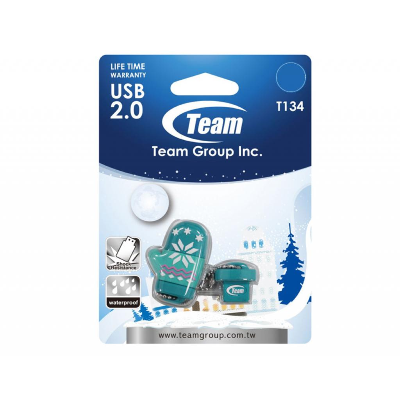 USB флеш накопитель Team 16Gb T134 green (TT13416GG01) изображение 2