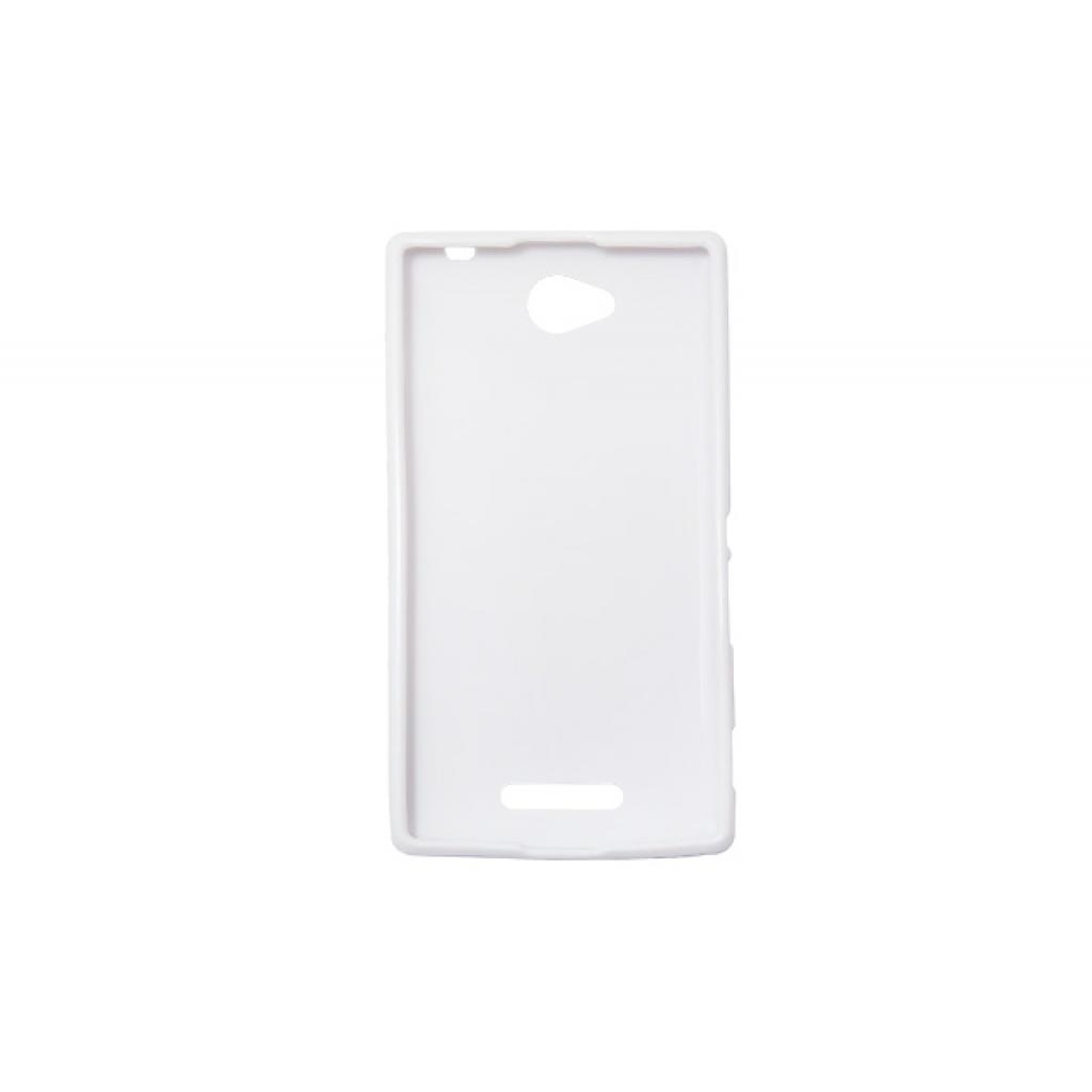 Чехол для моб. телефона Drobak для Sony C2305 Xperia C/Elastic PU/White (212285) изображение 2