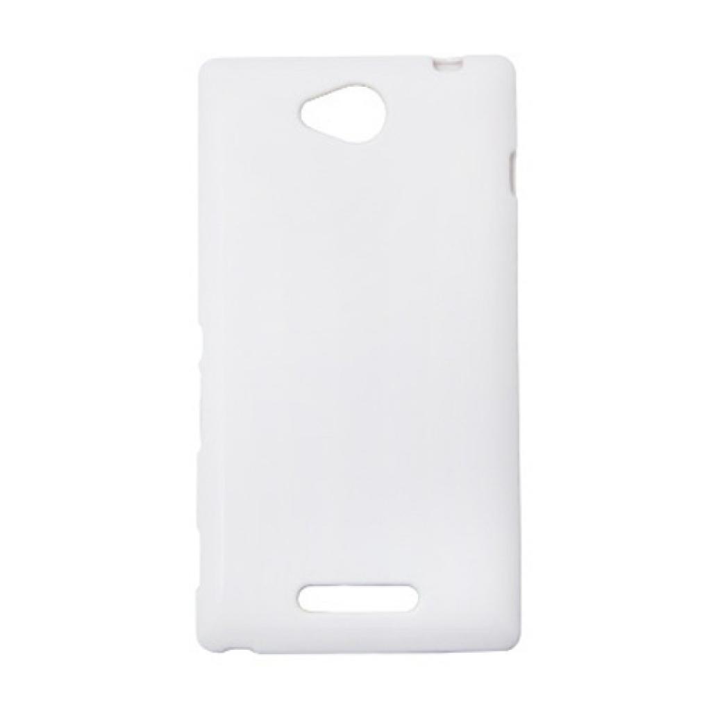Чехол для моб. телефона Drobak для Sony C2305 Xperia C/Elastic PU/White (212285)
