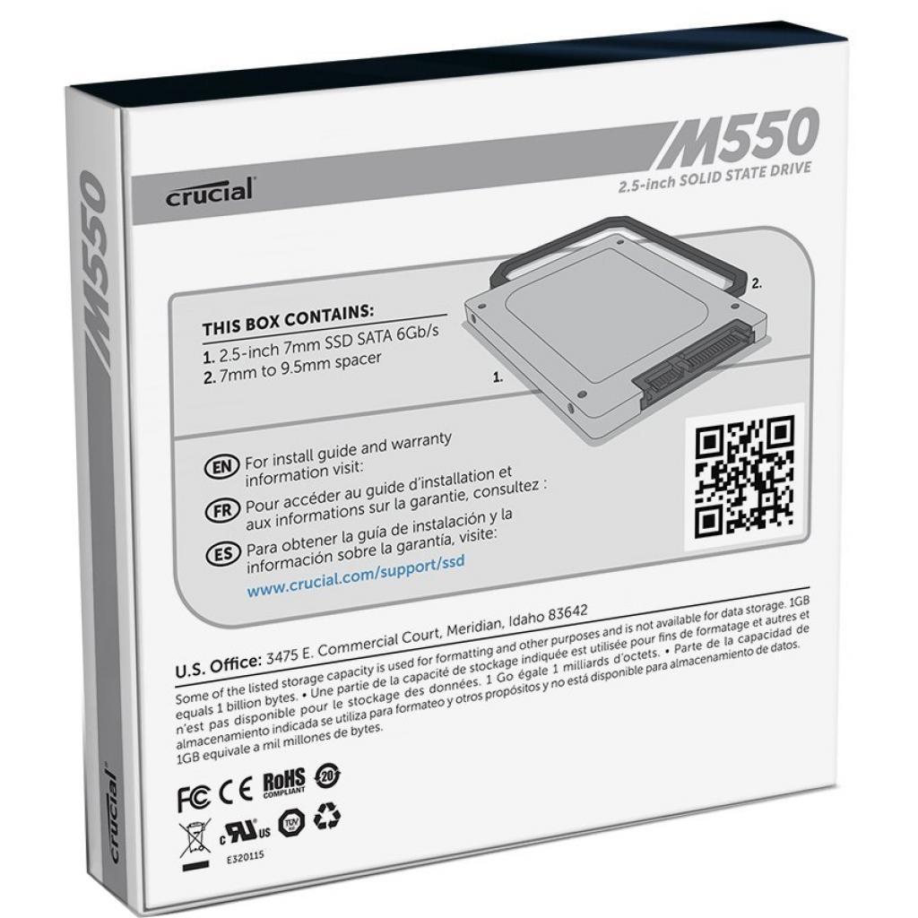 "Накопитель SSD 2.5"" 128GB MICRON (CT128M550SSD1) изображение 4"