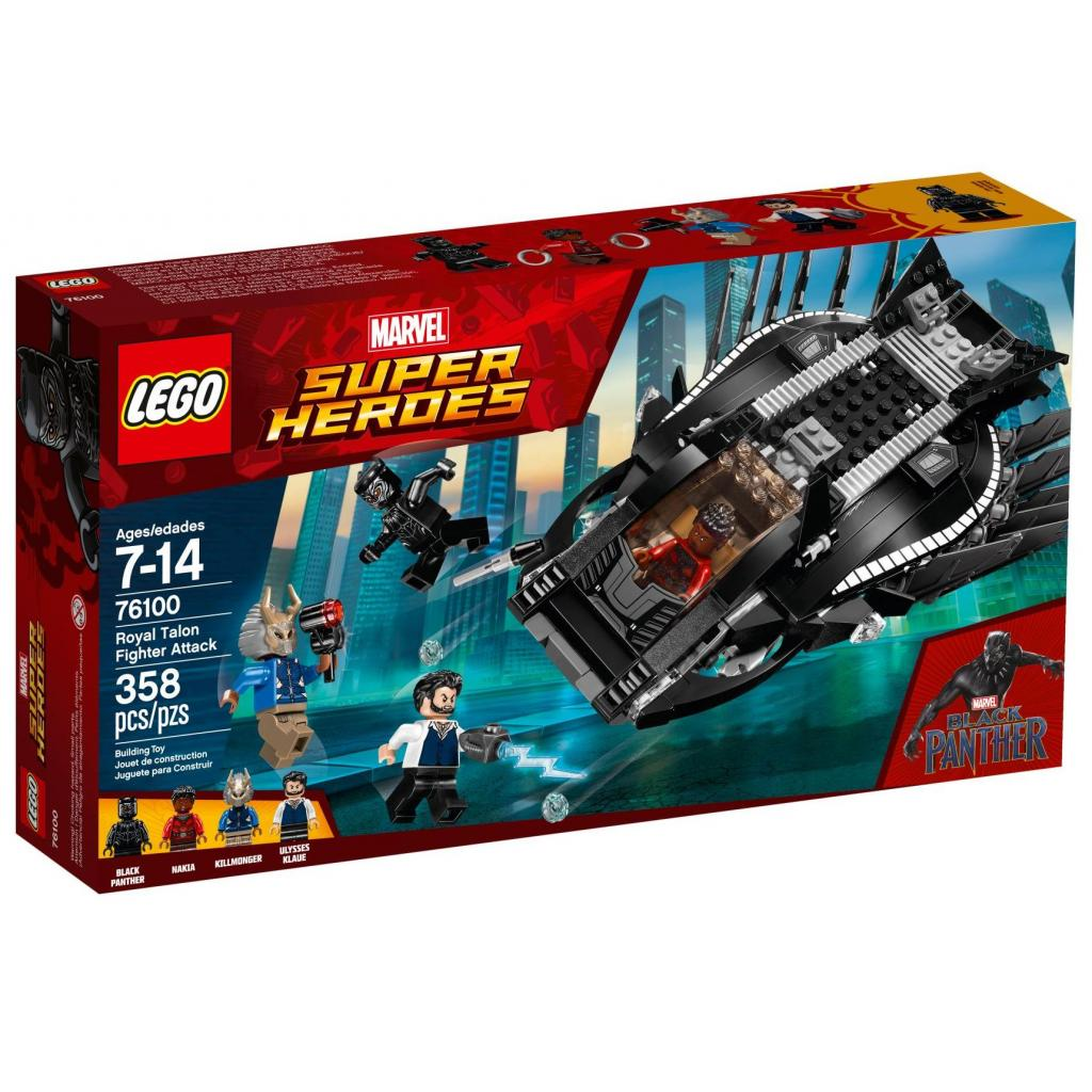 Конструктор LEGO Super Heroes Атака королевского истребителя (76100)