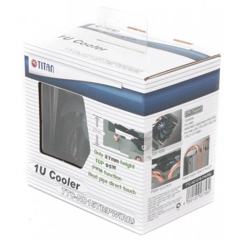 Кулер для процессора Titan TTC-ND15TB/PW(RB) изображение 4