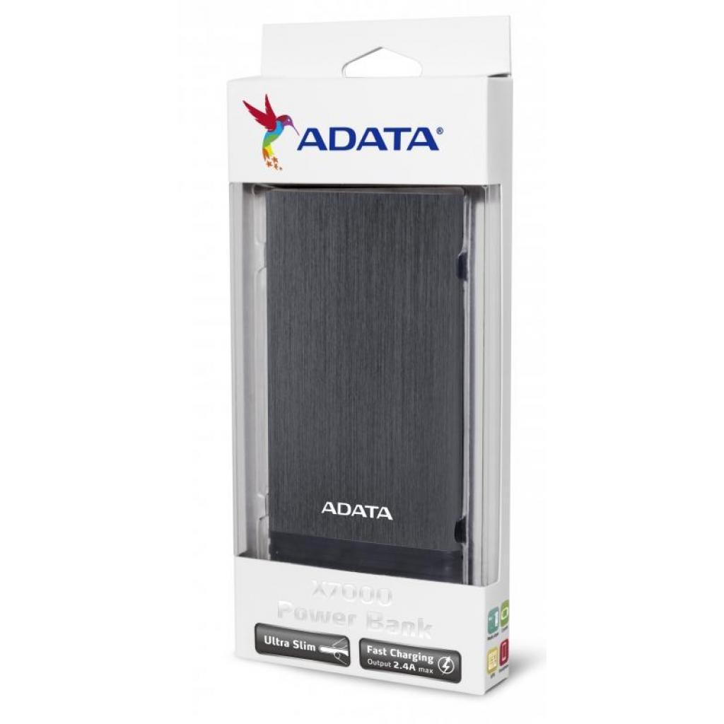 Батарея универсальная ADATA X7000 7000mAh Titanium (AX7000-5V-CTI) изображение 6