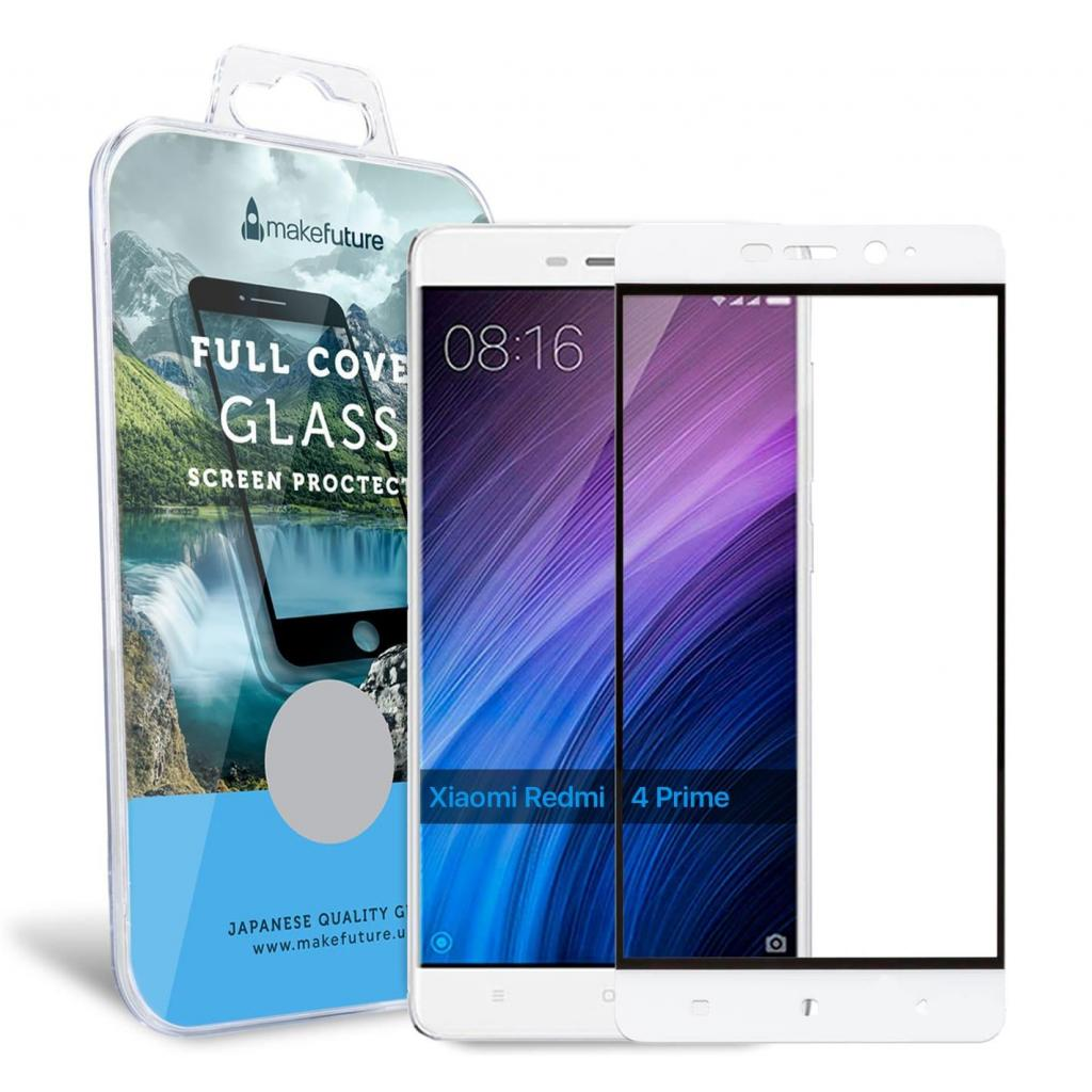 Стекло защитное MakeFuture для Xiaomi Redmi 4 Prime White Full Cover (MGFC-XR4PW) изображение 4