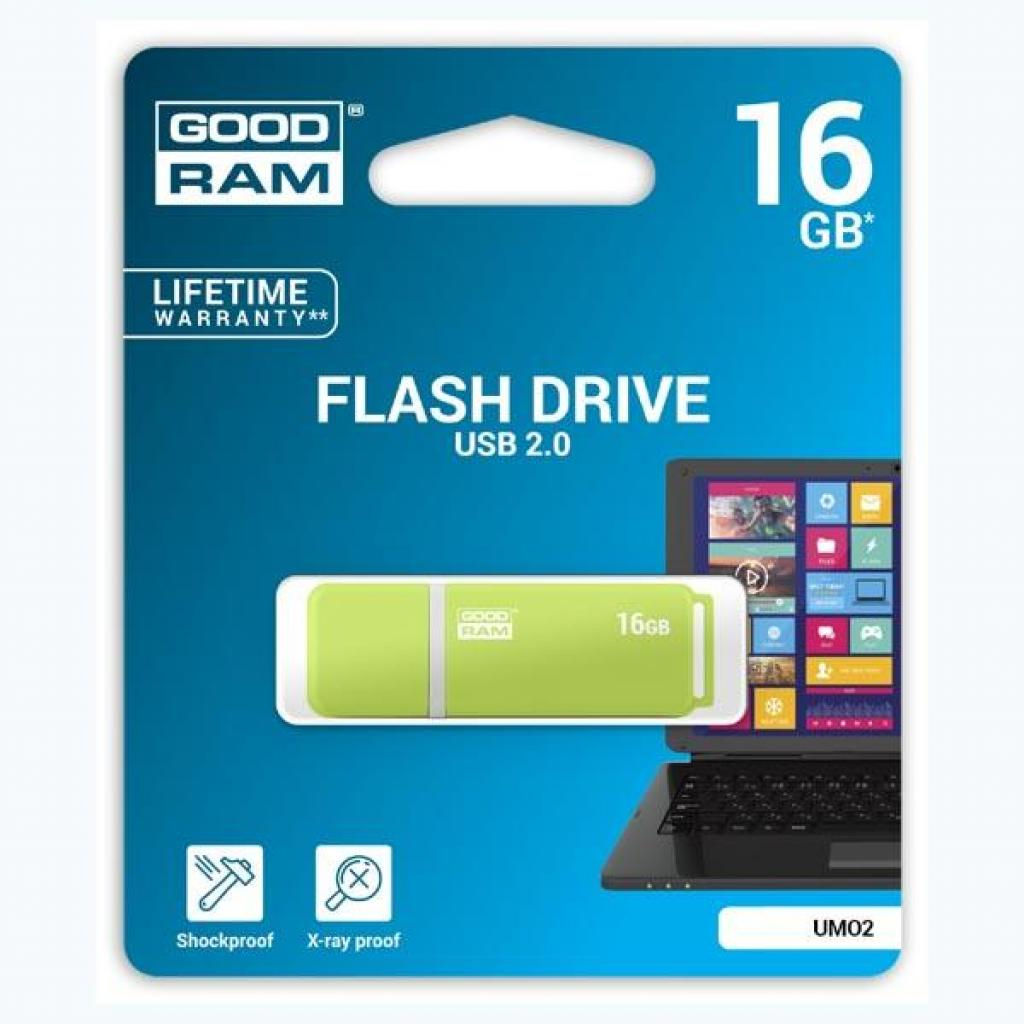 USB флеш накопитель GOODRAM 16GB UMO2 Green USB 2.0 (UMO2-0160G0R11) изображение 5
