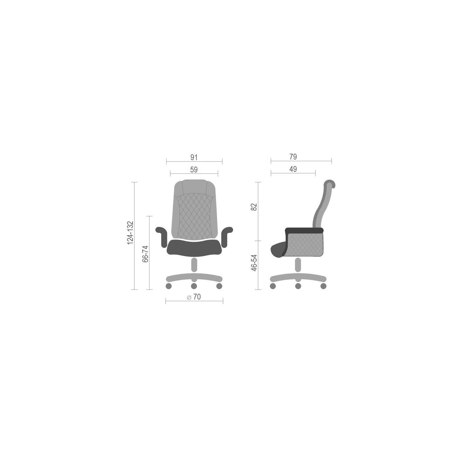 Офисное кресло Аклас Франсуа EX D-Tilt Коричневое (13631) изображение 6